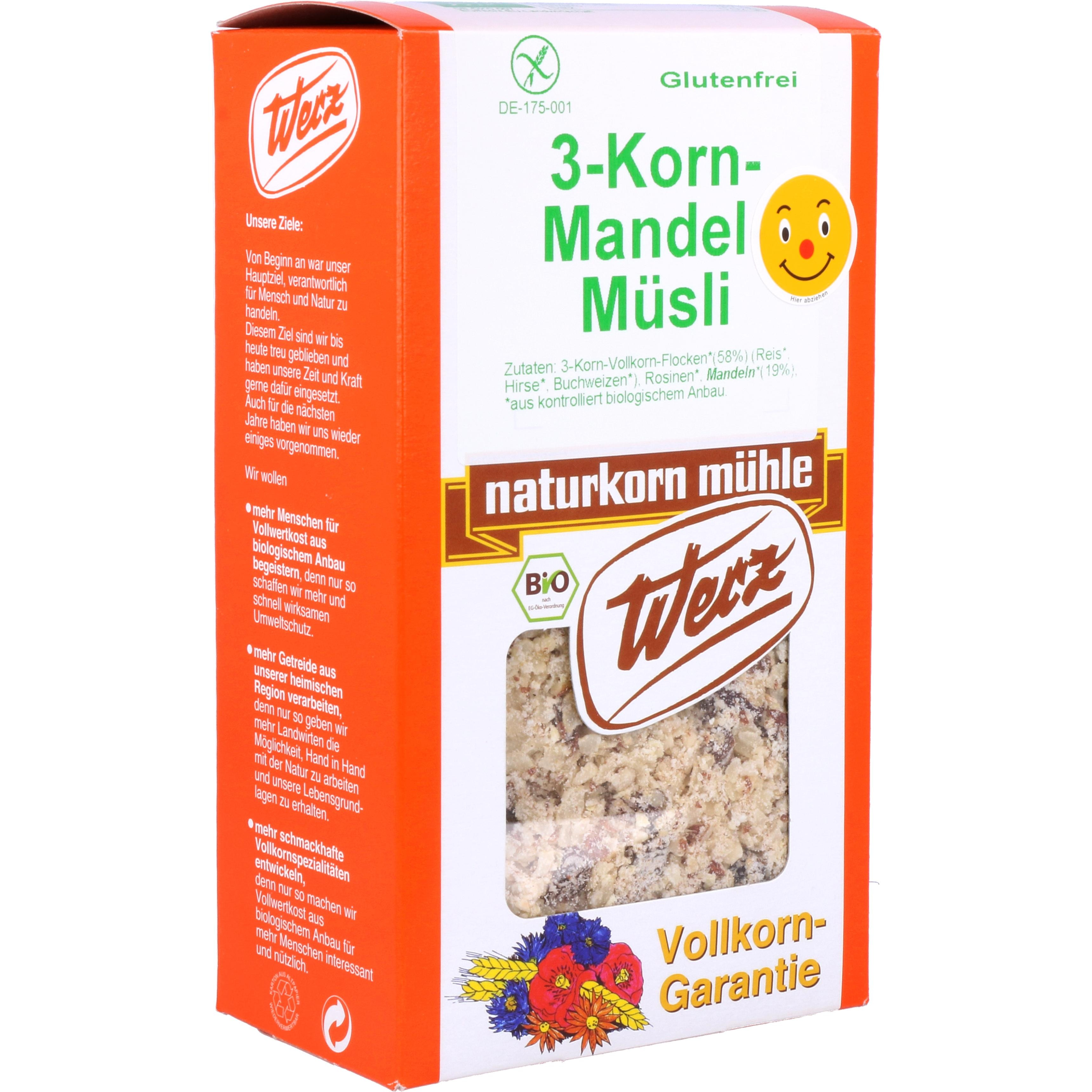 Werz Bio 3-Korn-Mandel-Müsli 400g