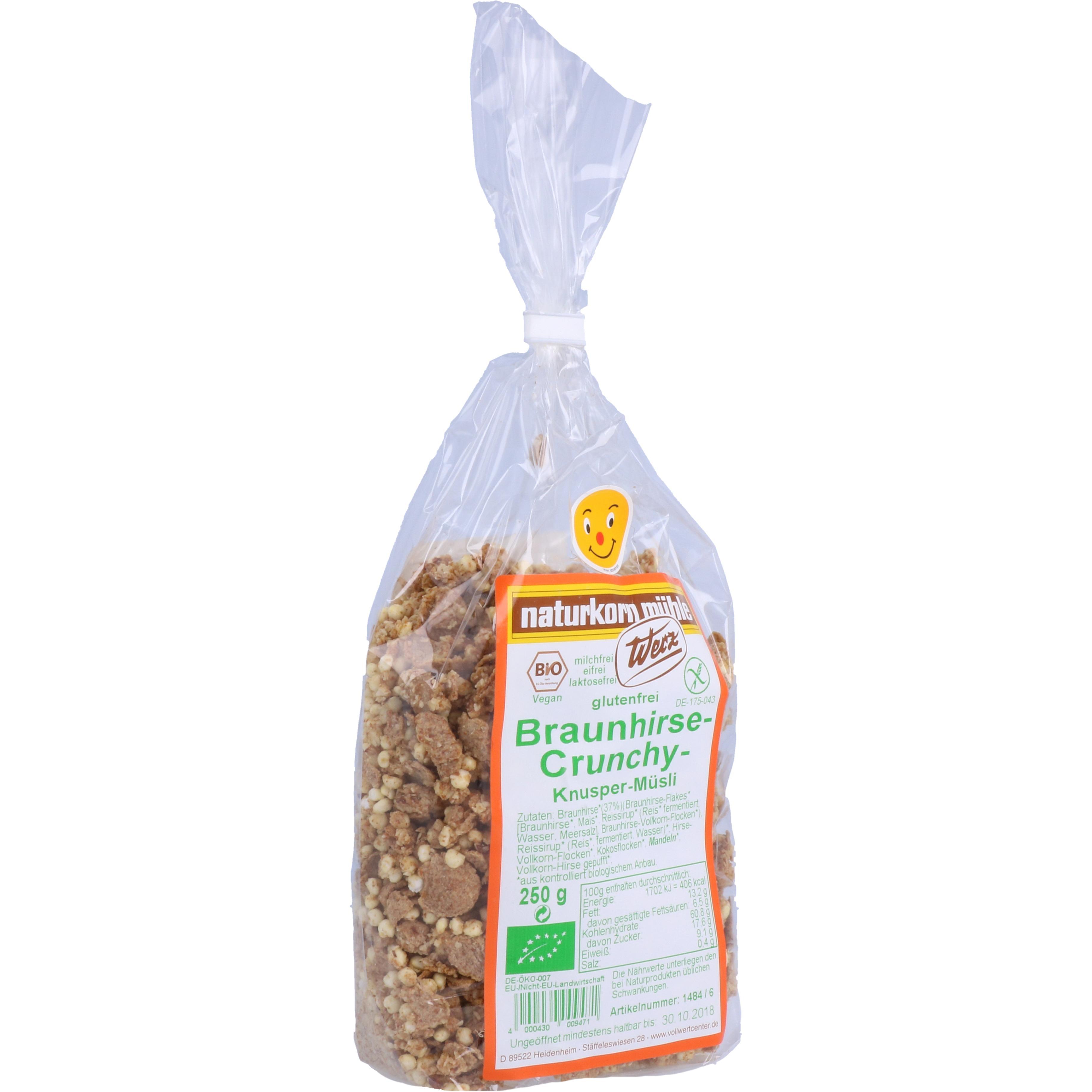Werz Bio Braunhirse Crunchy Knusper Müsli 250g
