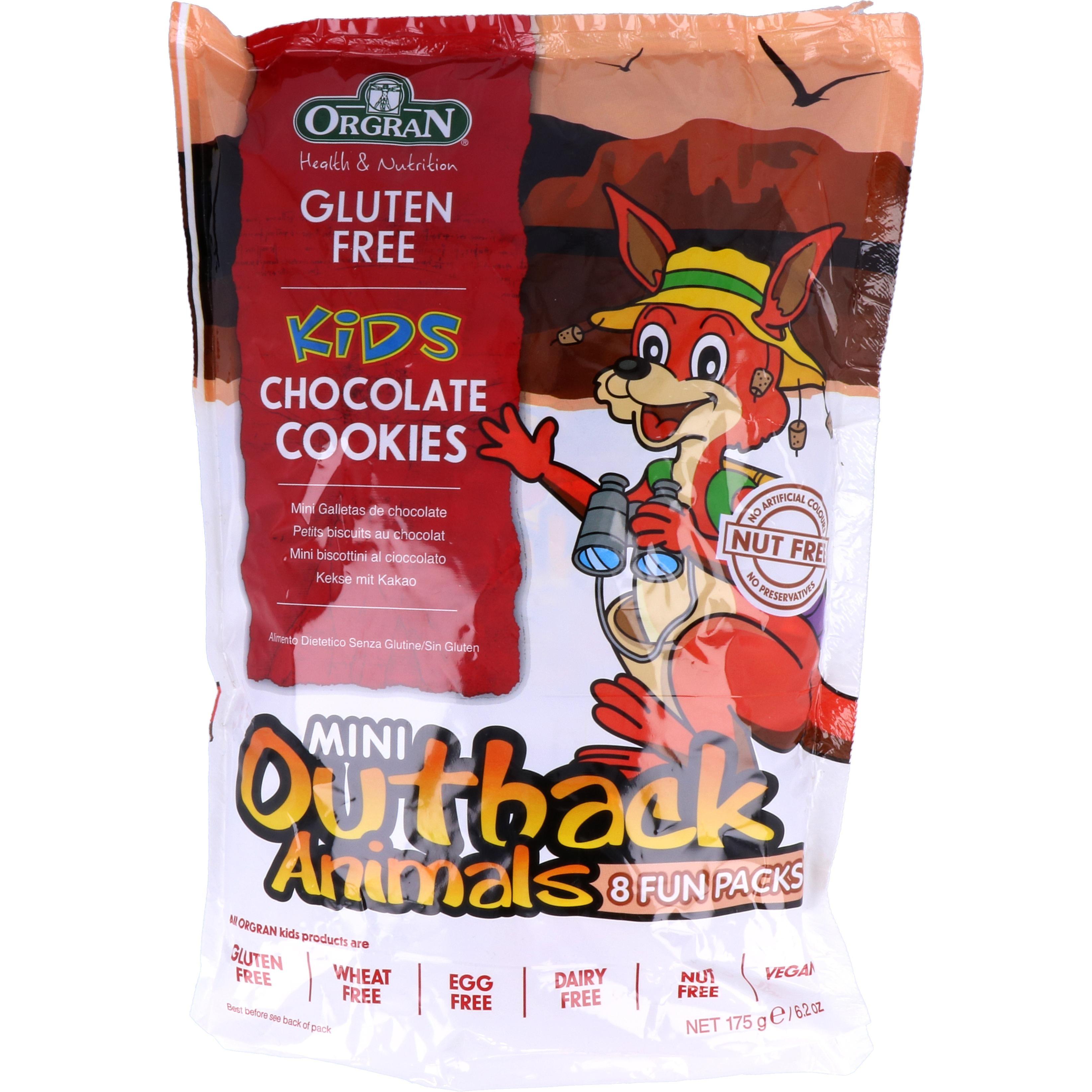 Orgran Mini Outback Animals Chocolate Cookies 175g