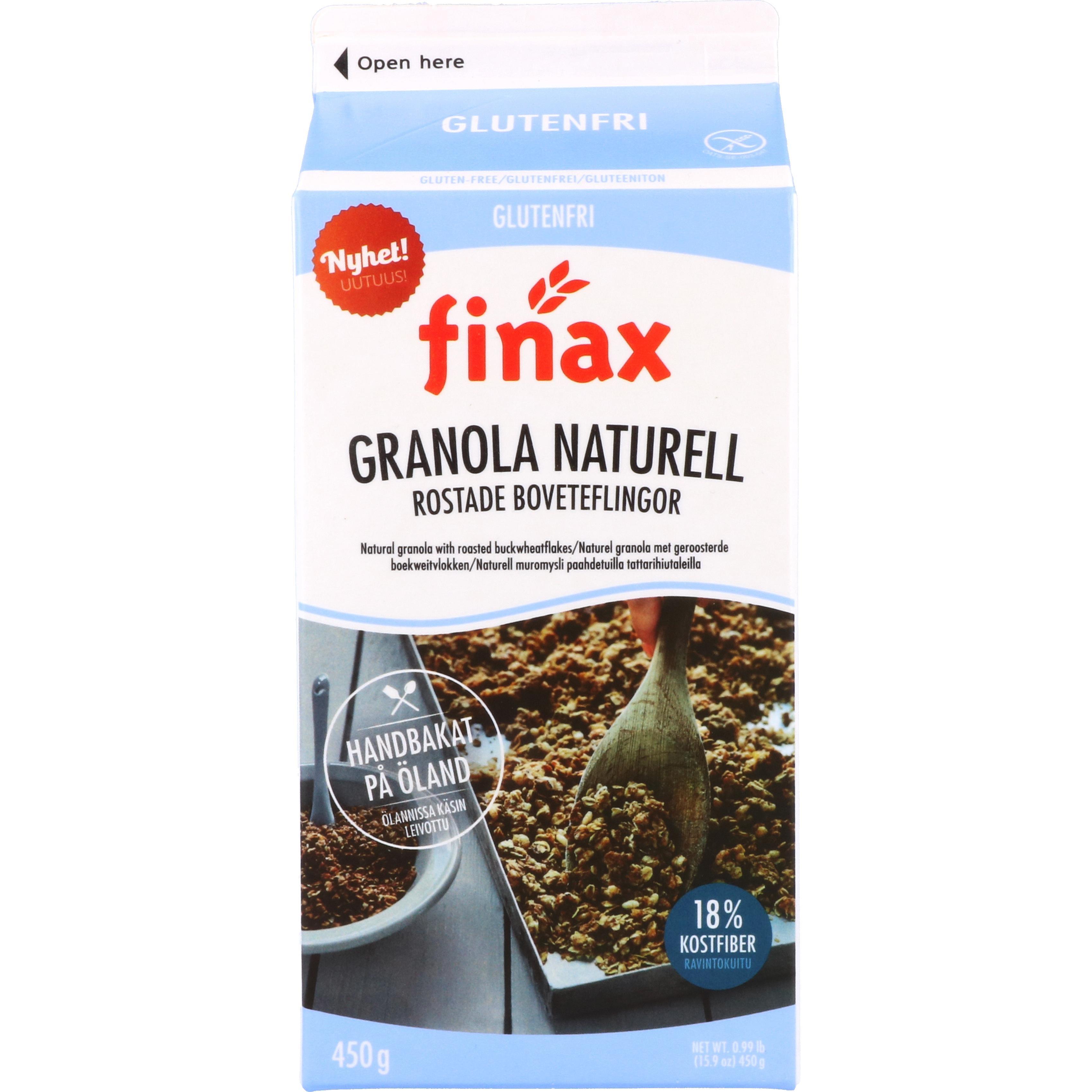 Finax Granola Naturell Müsli mit geröstetem Buchweizen 450g