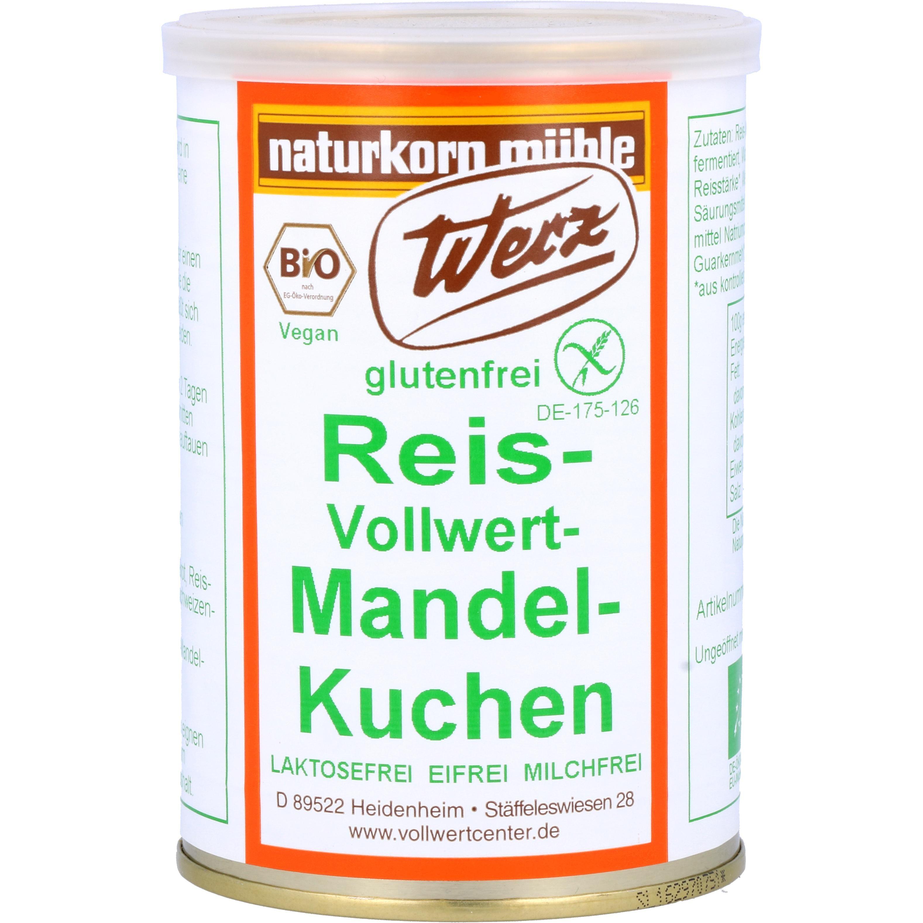 Werz Bio Reis-Vollwert-Mandeln-Kuchen Dose 250g