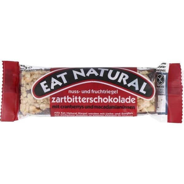 eat natural Nuss- & Fruchtriegel Zartbitterschokolade, Cranberrys & Macadamianüsse 45g