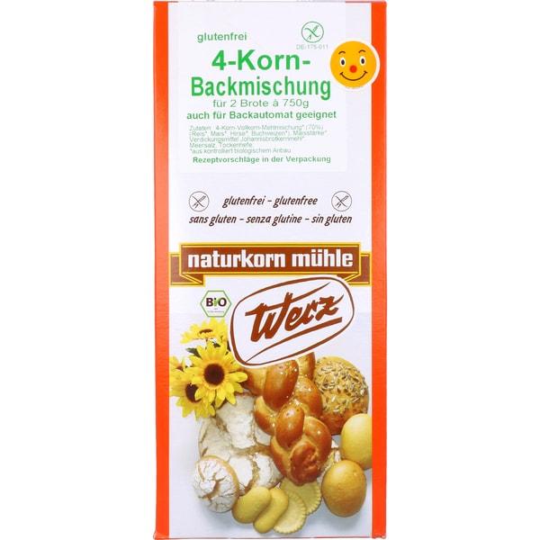 Werz Bio 4-Korn-Backmischung glutenfrei 1Kg