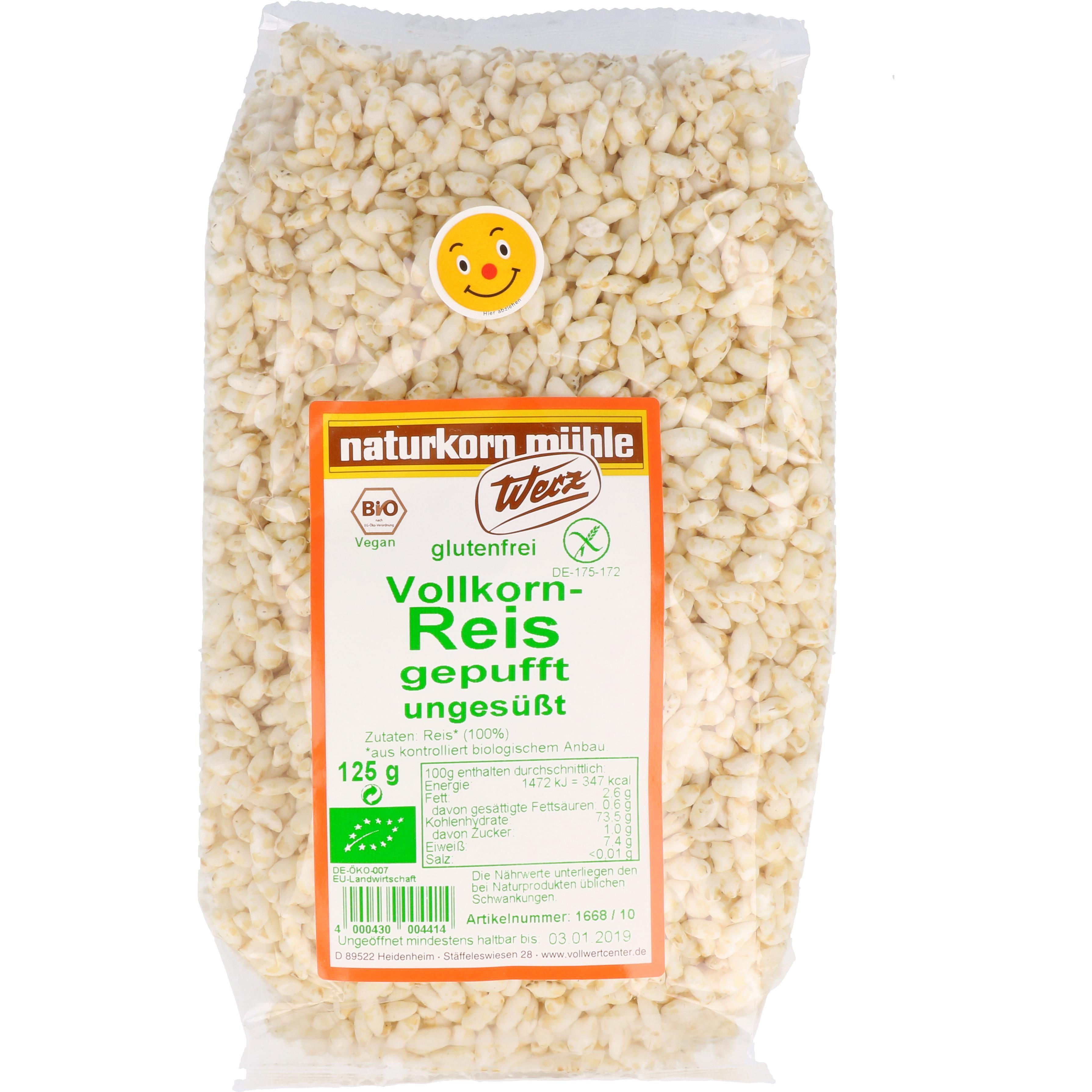 Werz Bio Vollkorn Reis gepufft, ungesüßt 125g