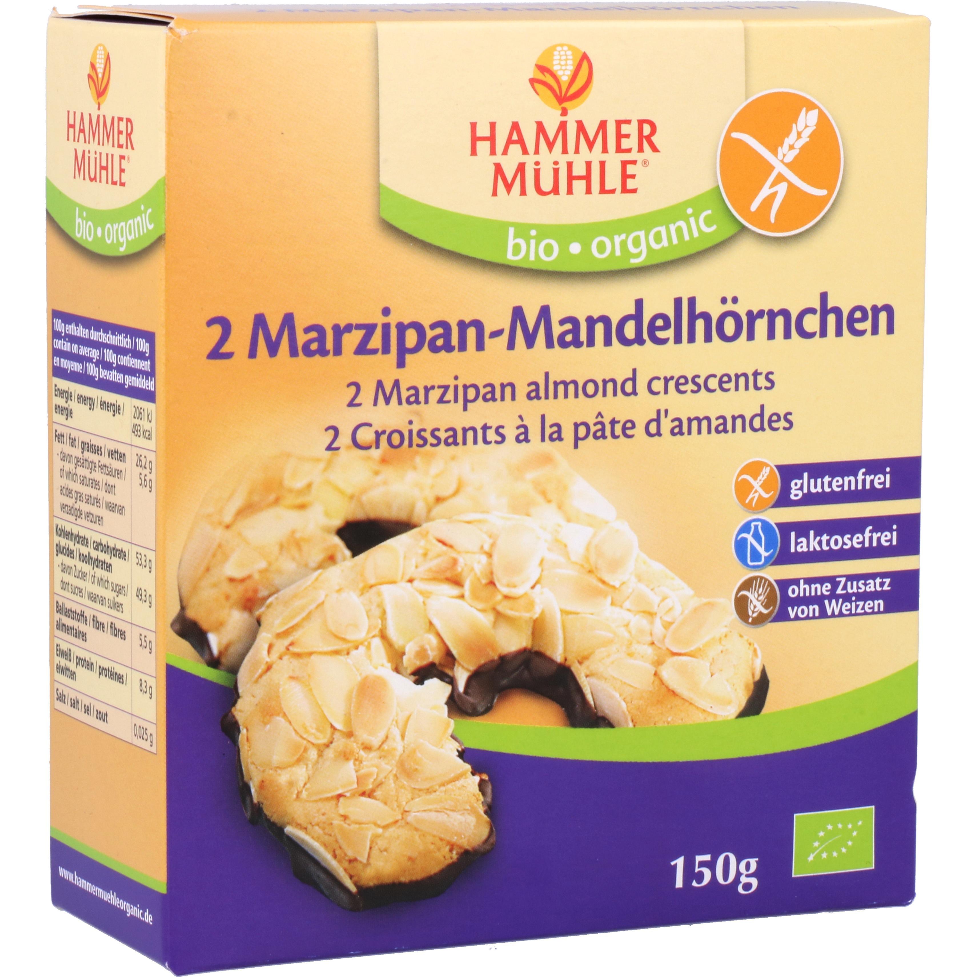 Hammermühle Organic Bio 2 Mandelhörnchen mit Marzipan 150g