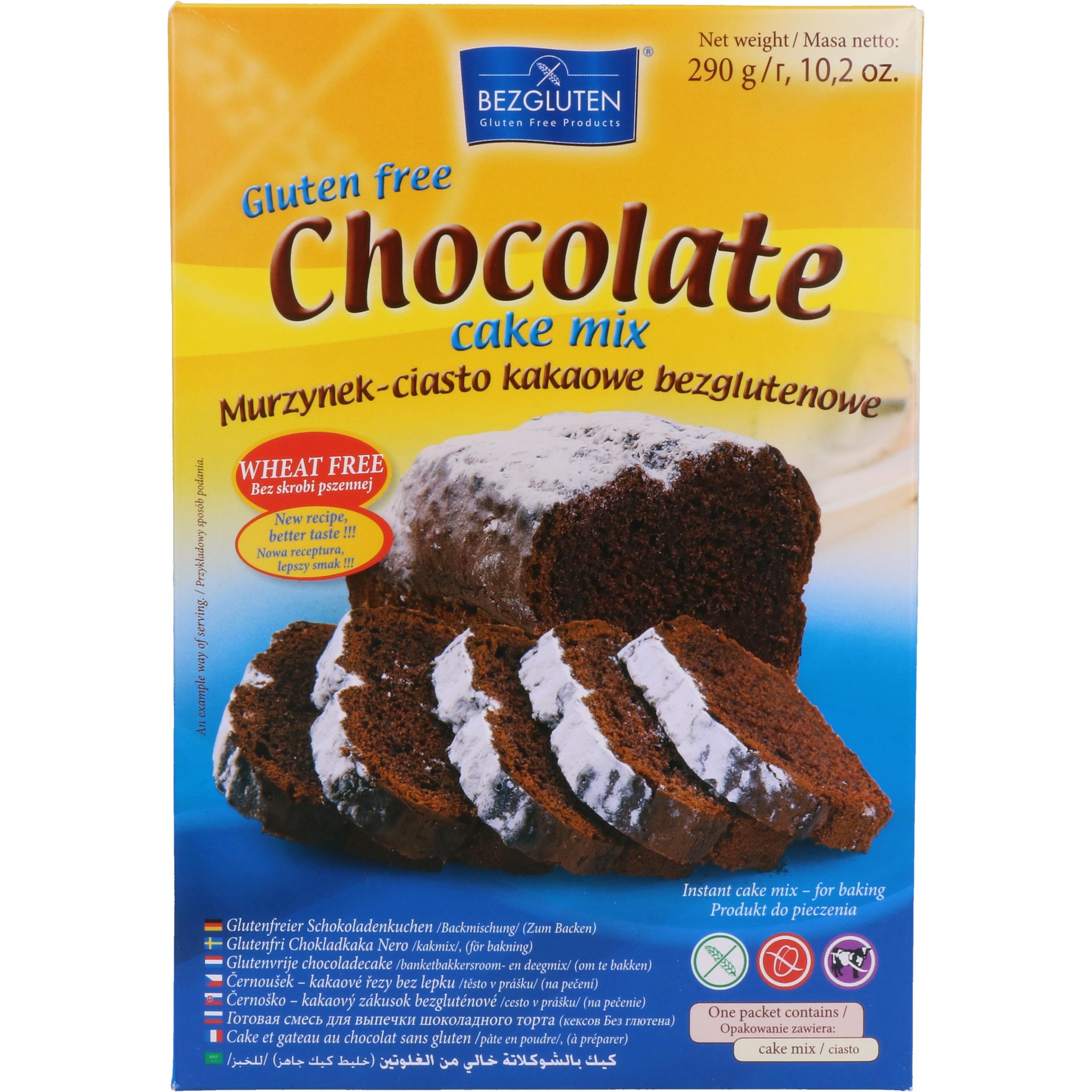 Bezgluten Glutenfreier Schokoladenkuchen Chocolate cake mix 290g