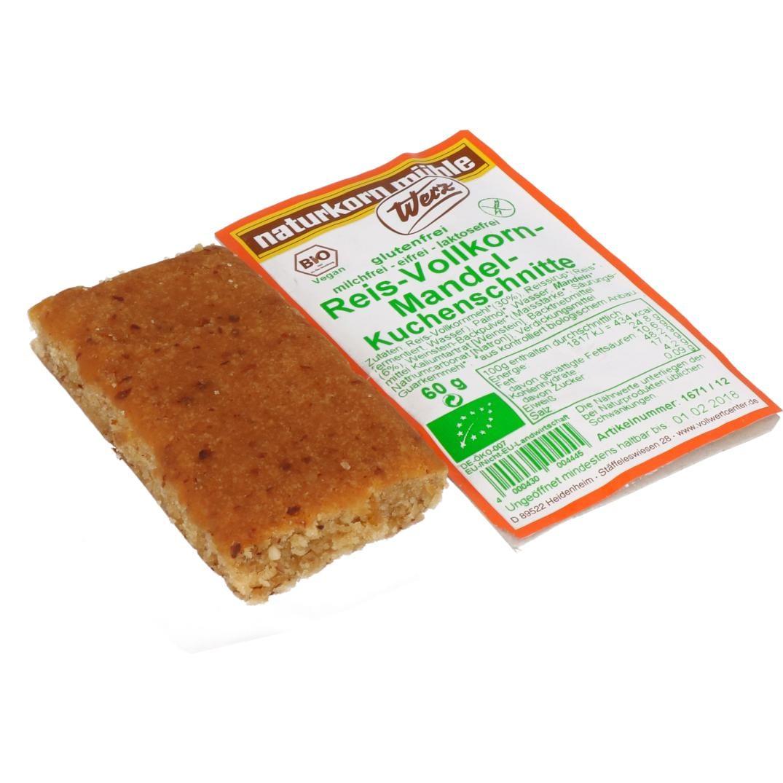 Werz Bio Reis-Vollkorn-Mandel-Kuchenschnitte 60g