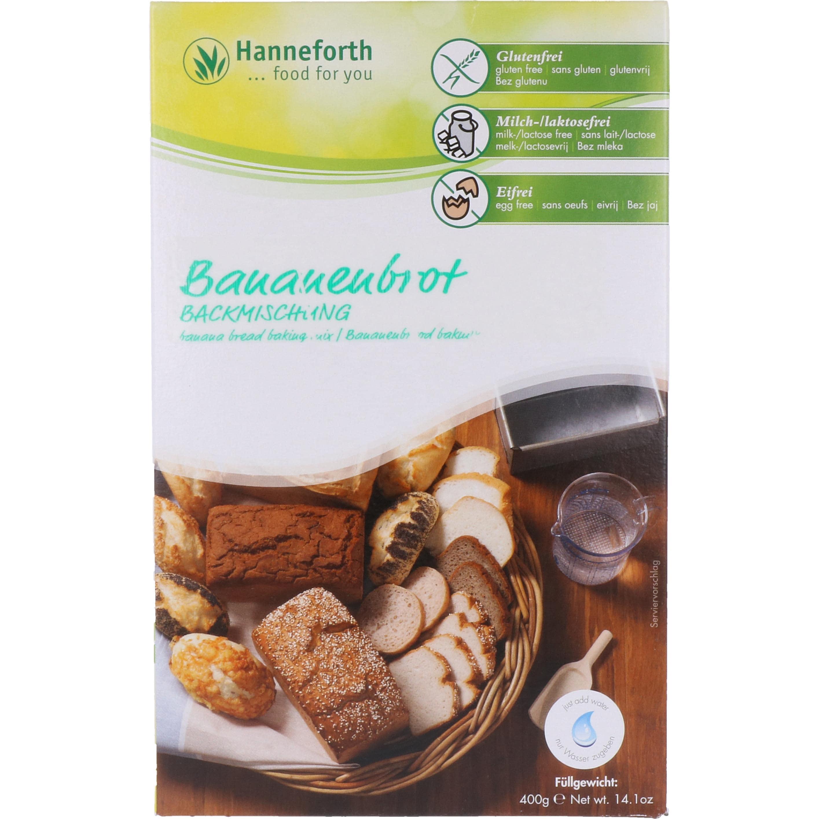 Hanneforth, food for you Backmischung für Bananenbrot 400g
