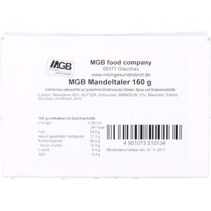 MGB food company Mandeltaler 160g