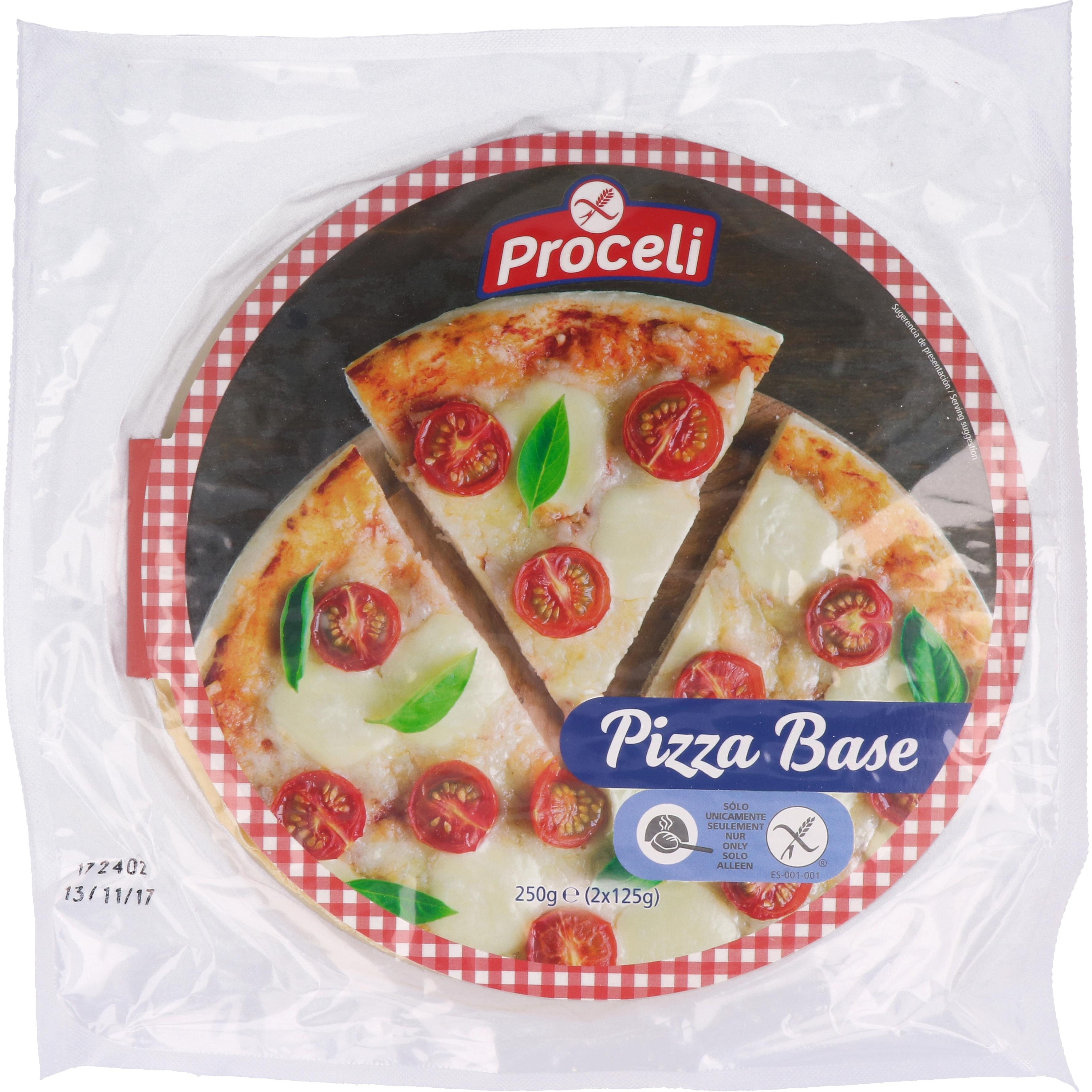 Proceli Pizzaböden 250g