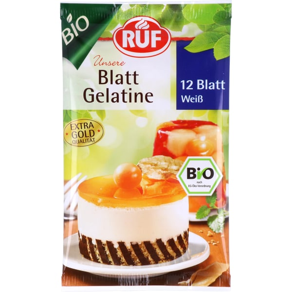 Ruf Bio Blatt Gelatine 20g