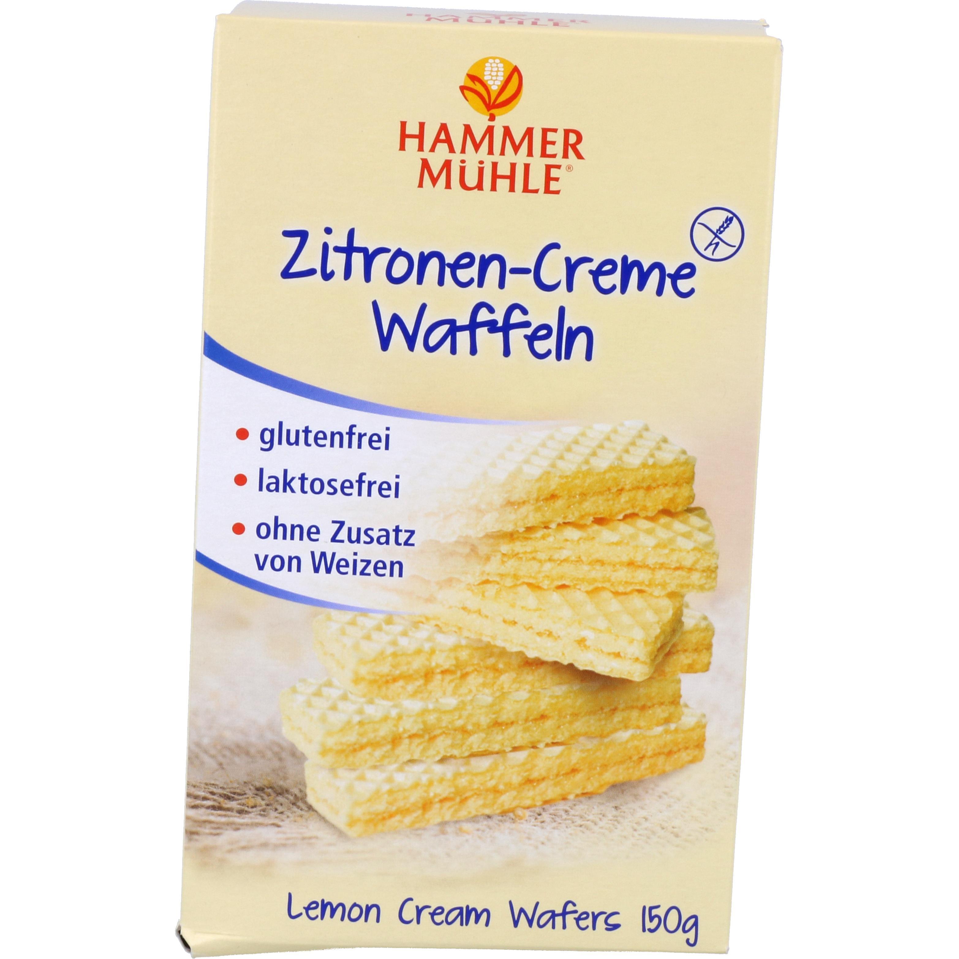 Hammermühle Zitronen-Creme-Waffeln 150g