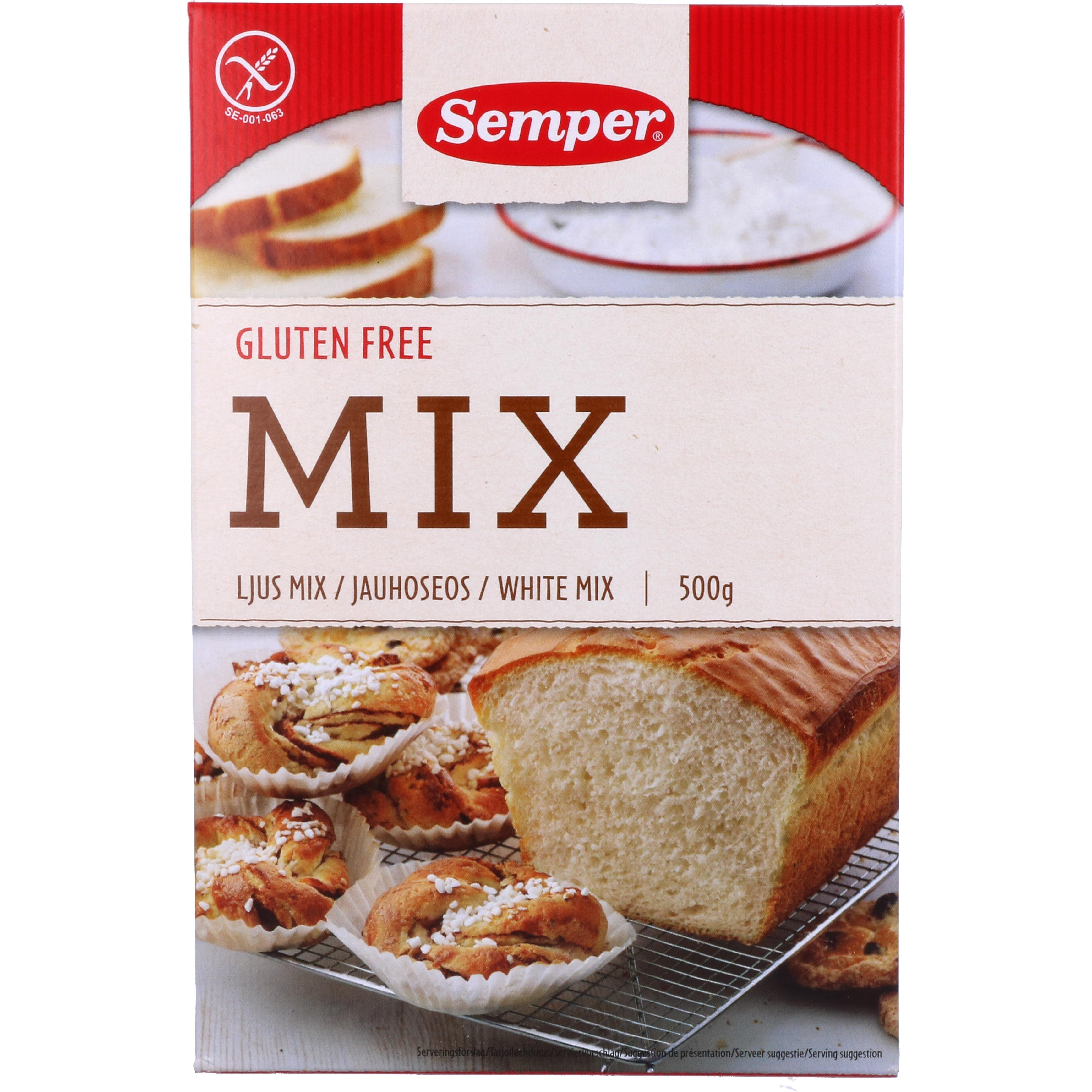 "Semper Backmischung ""Mix"" White Mix glutenfrei 500g"