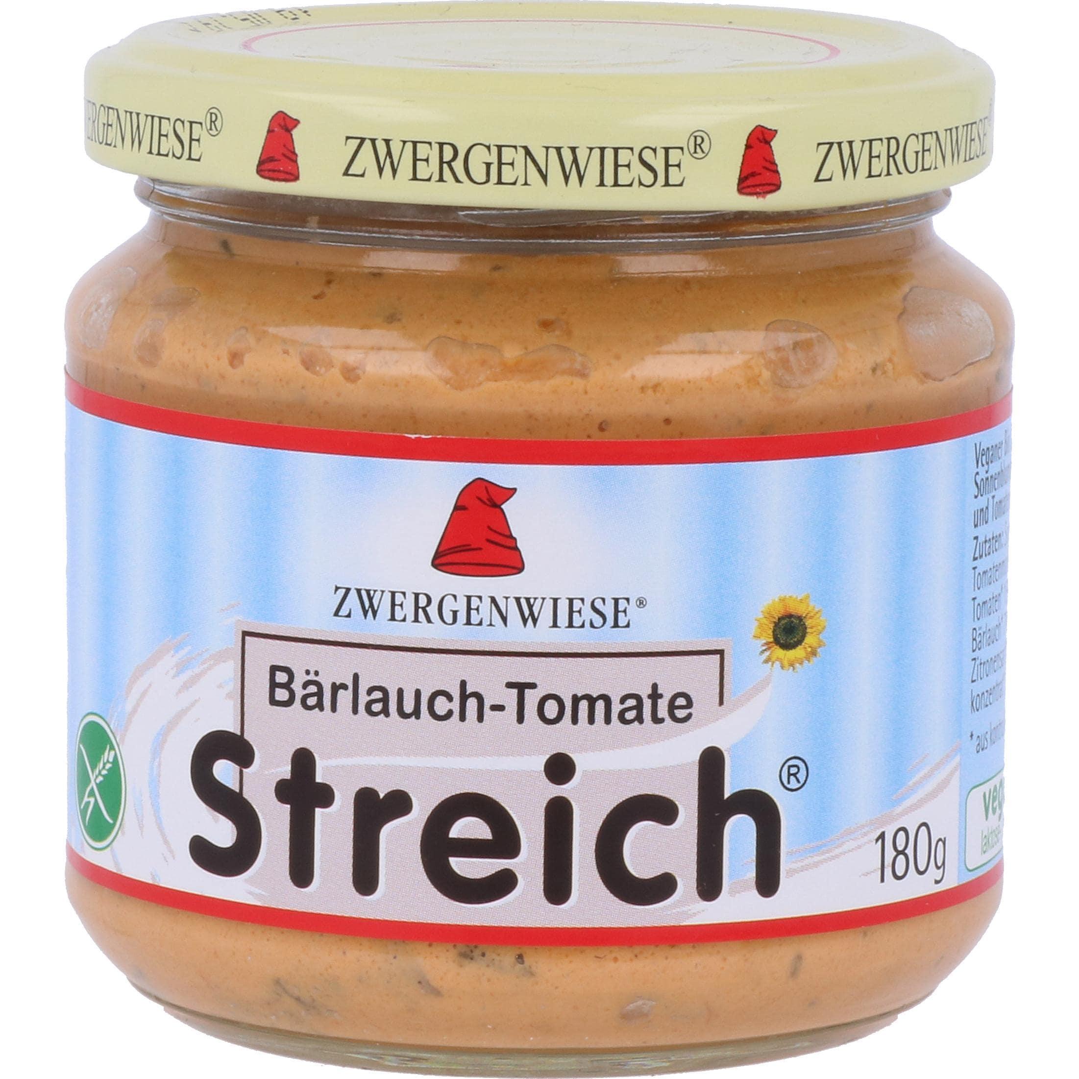 Zwergenwiese Bio Bärlauch-Tomate Streich 180g