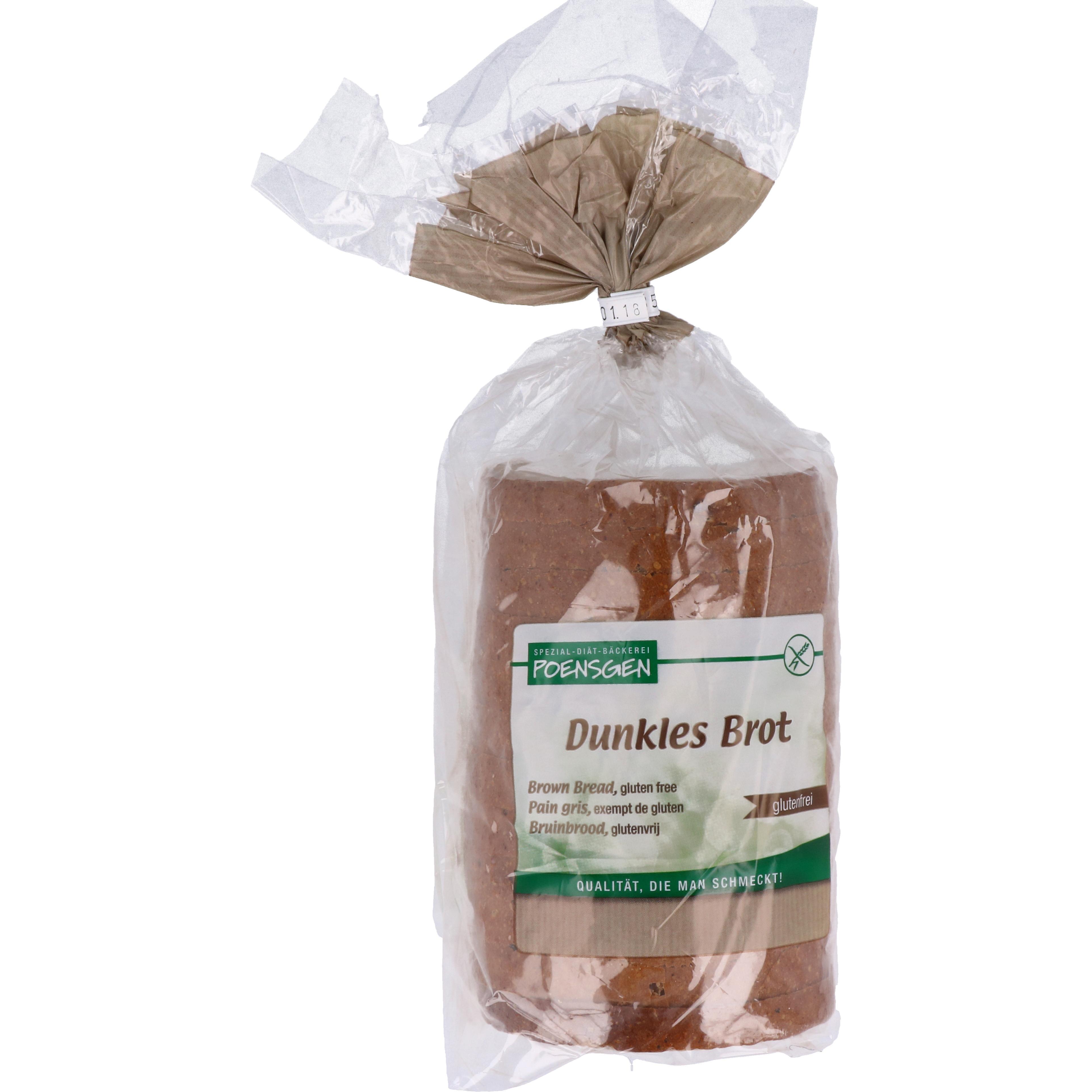 Poensgen Dunkles Brot geschnitten 500g
