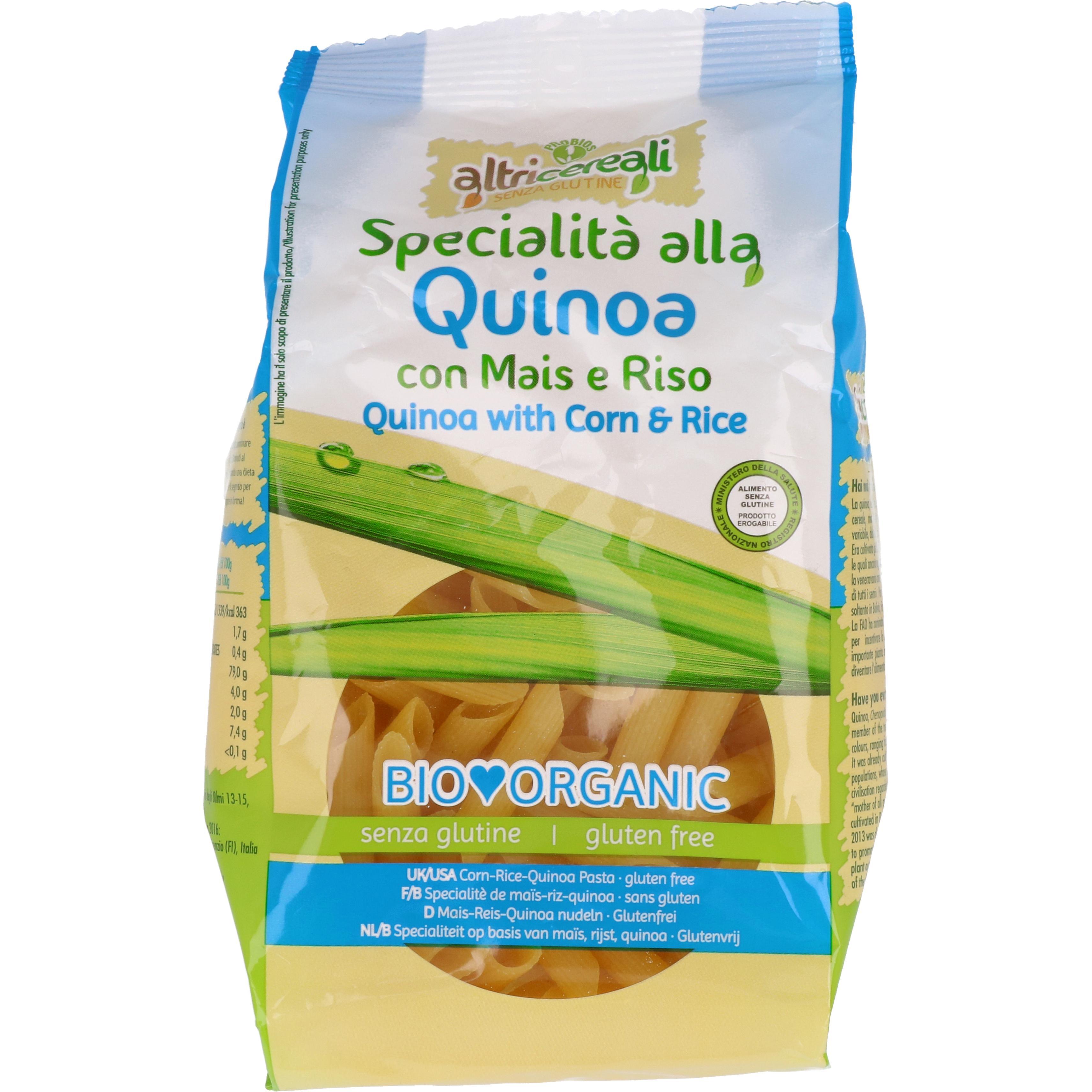 Probios Bio Altri Cereali - Mais-Reis-Quinoa-Penne 250g