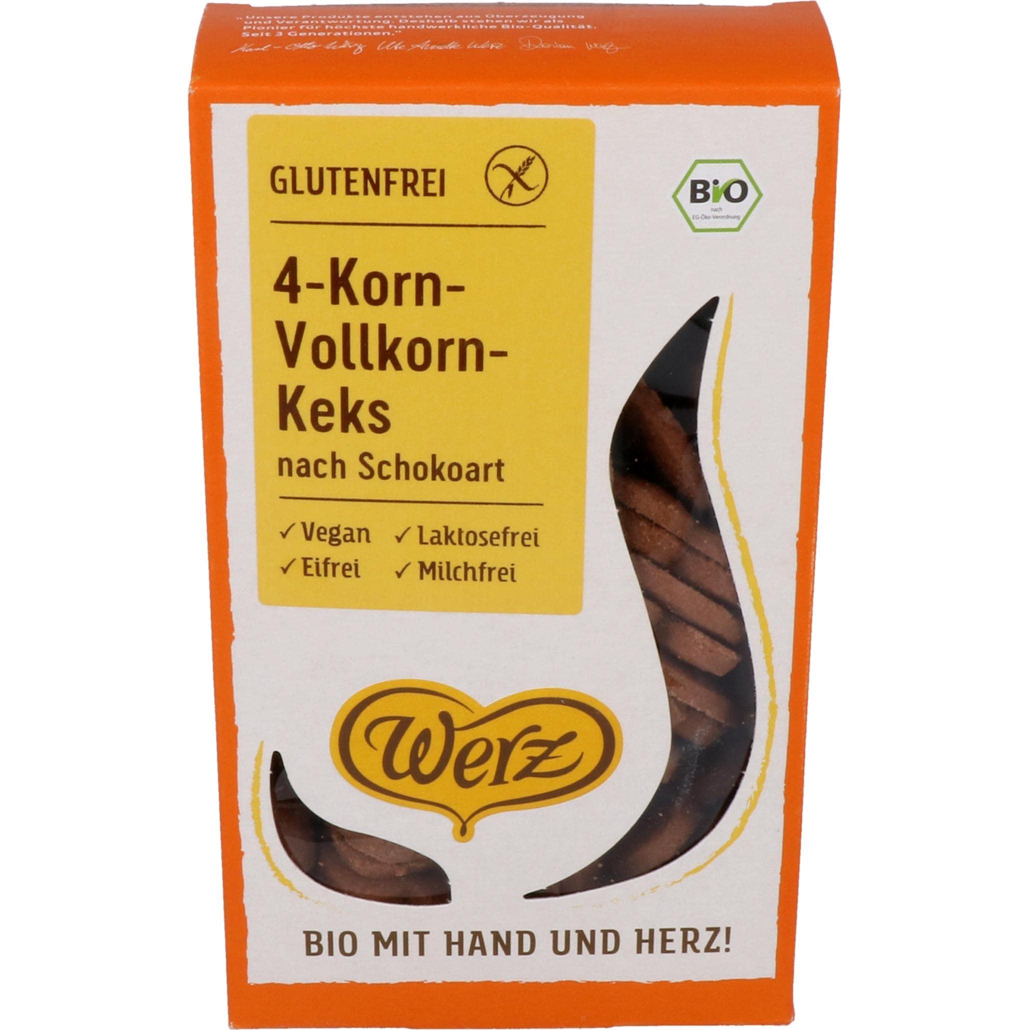 Werz Bio 4-Korn-Vollkorn-Keks nach Schokoart 150g