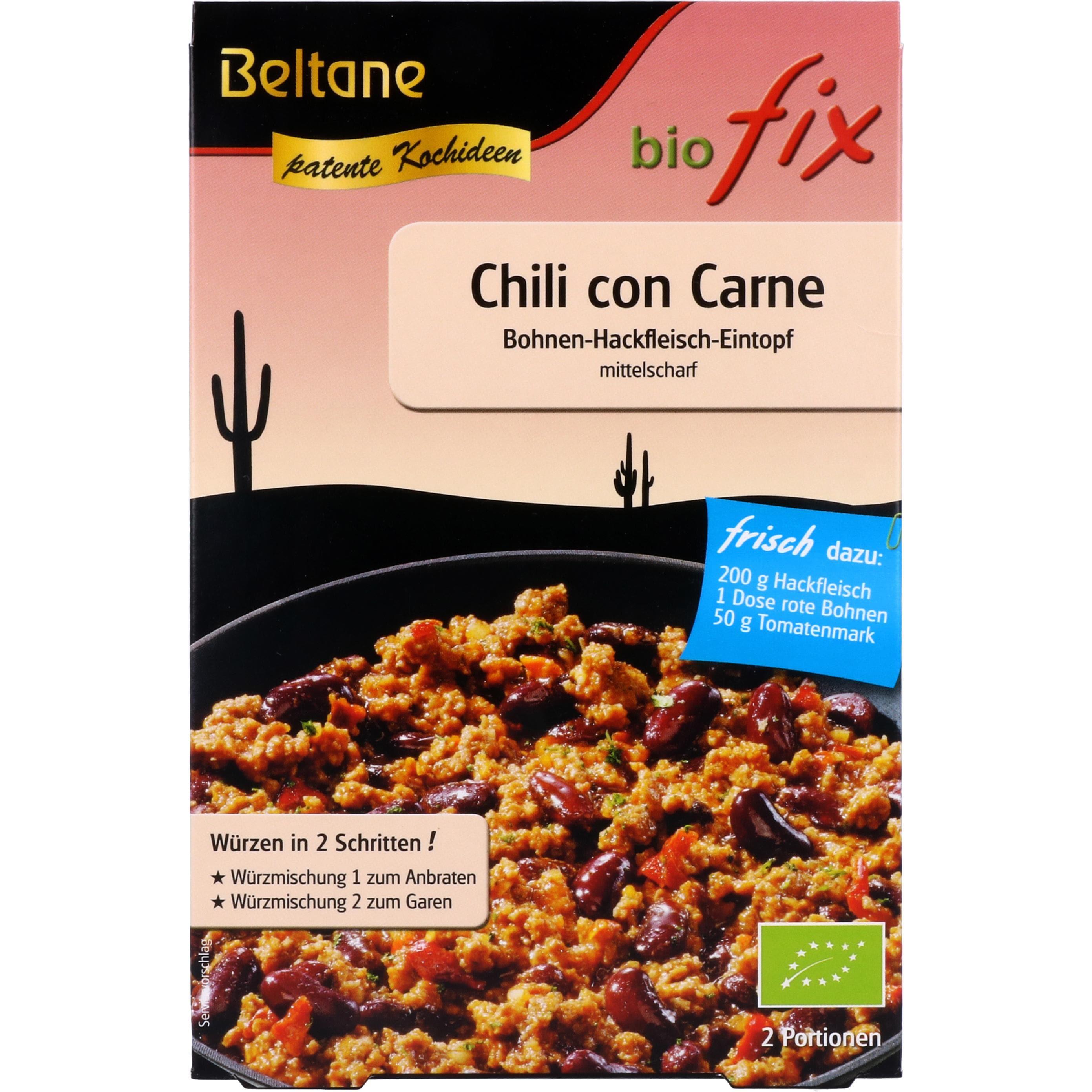 Beltane Bio Fix Chili con Carne 28g