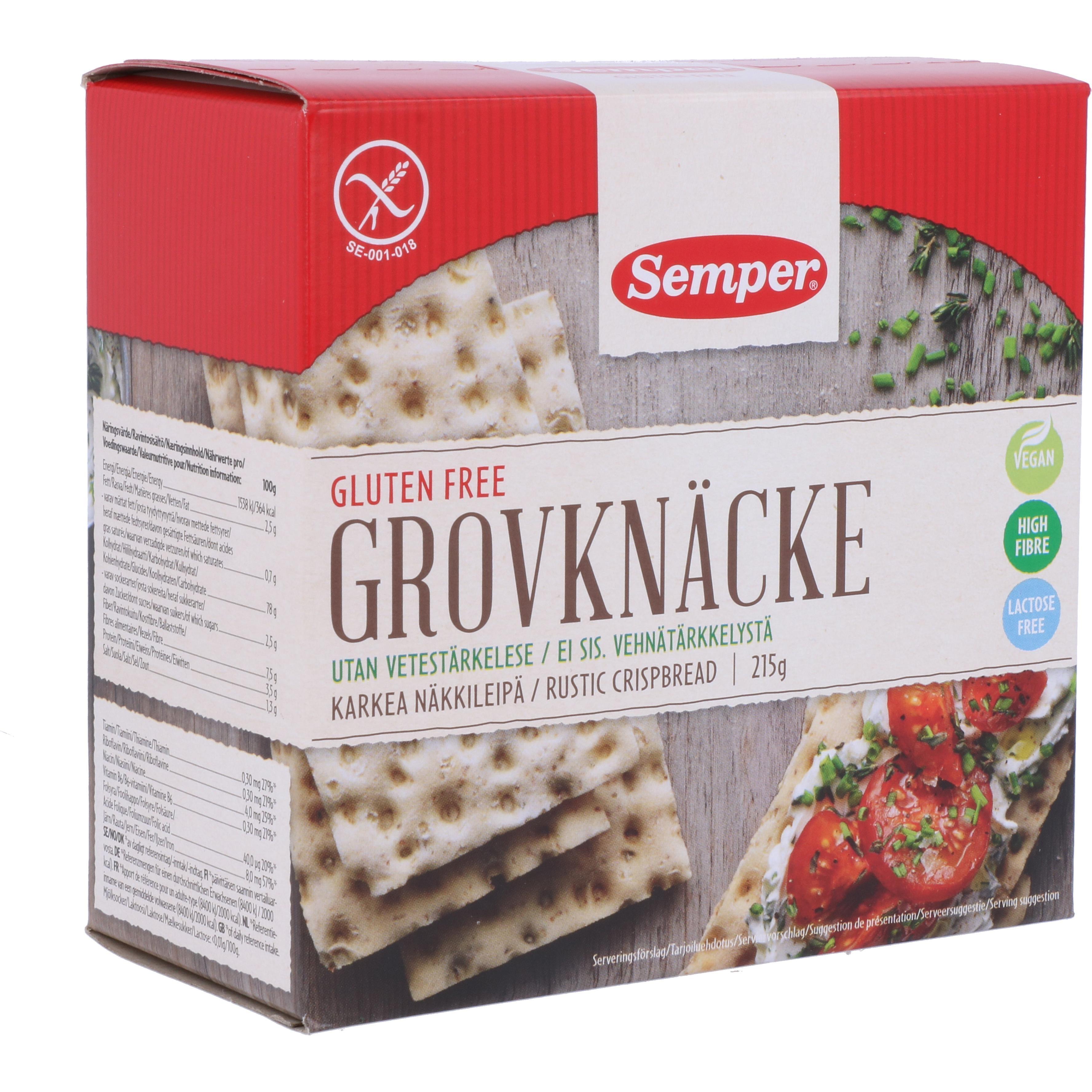 Semper Grovknäcke 215g