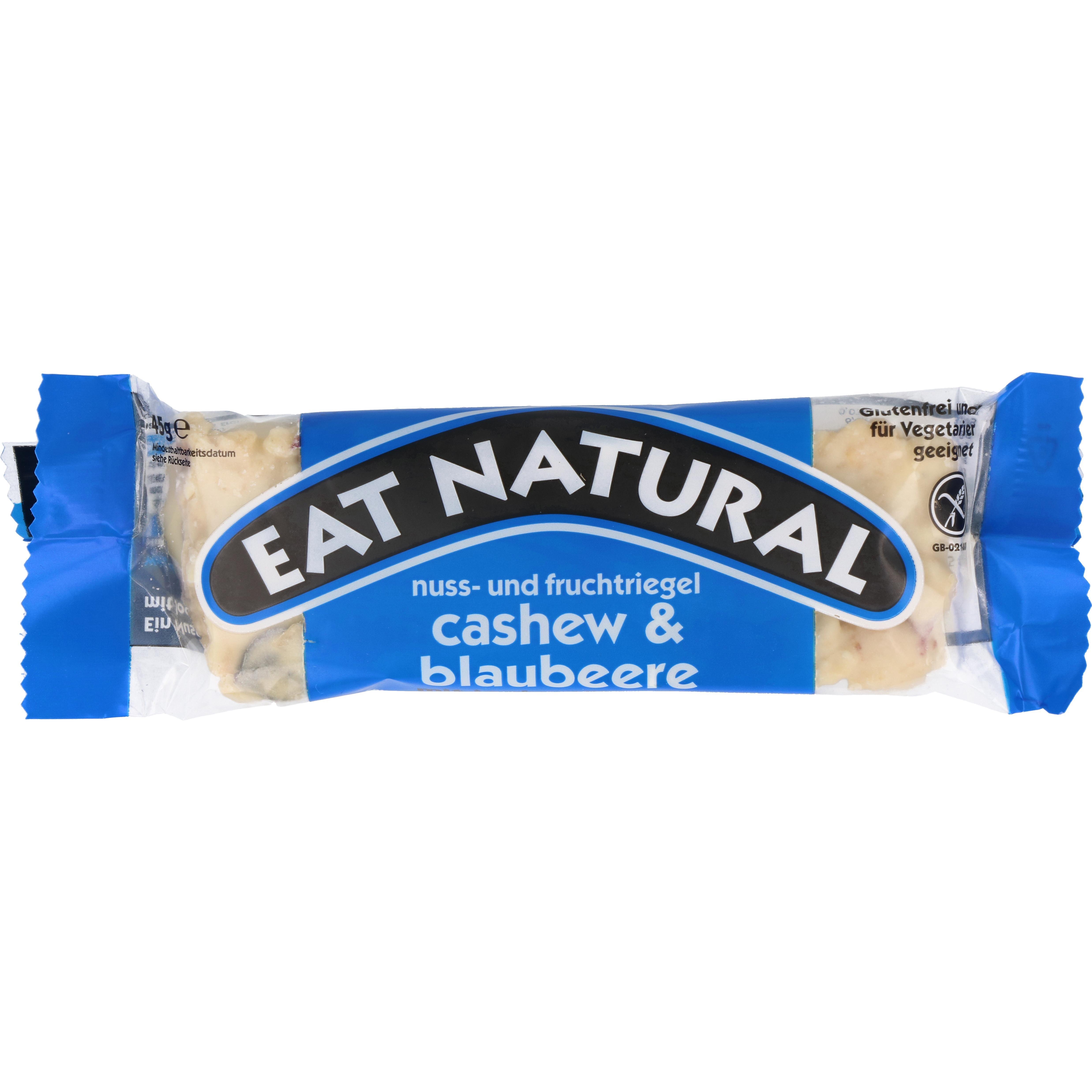 eat natural Nuss- & Fruchtriegel Cashewnuss & Blaubeere mit Joghurtüberzug 45g