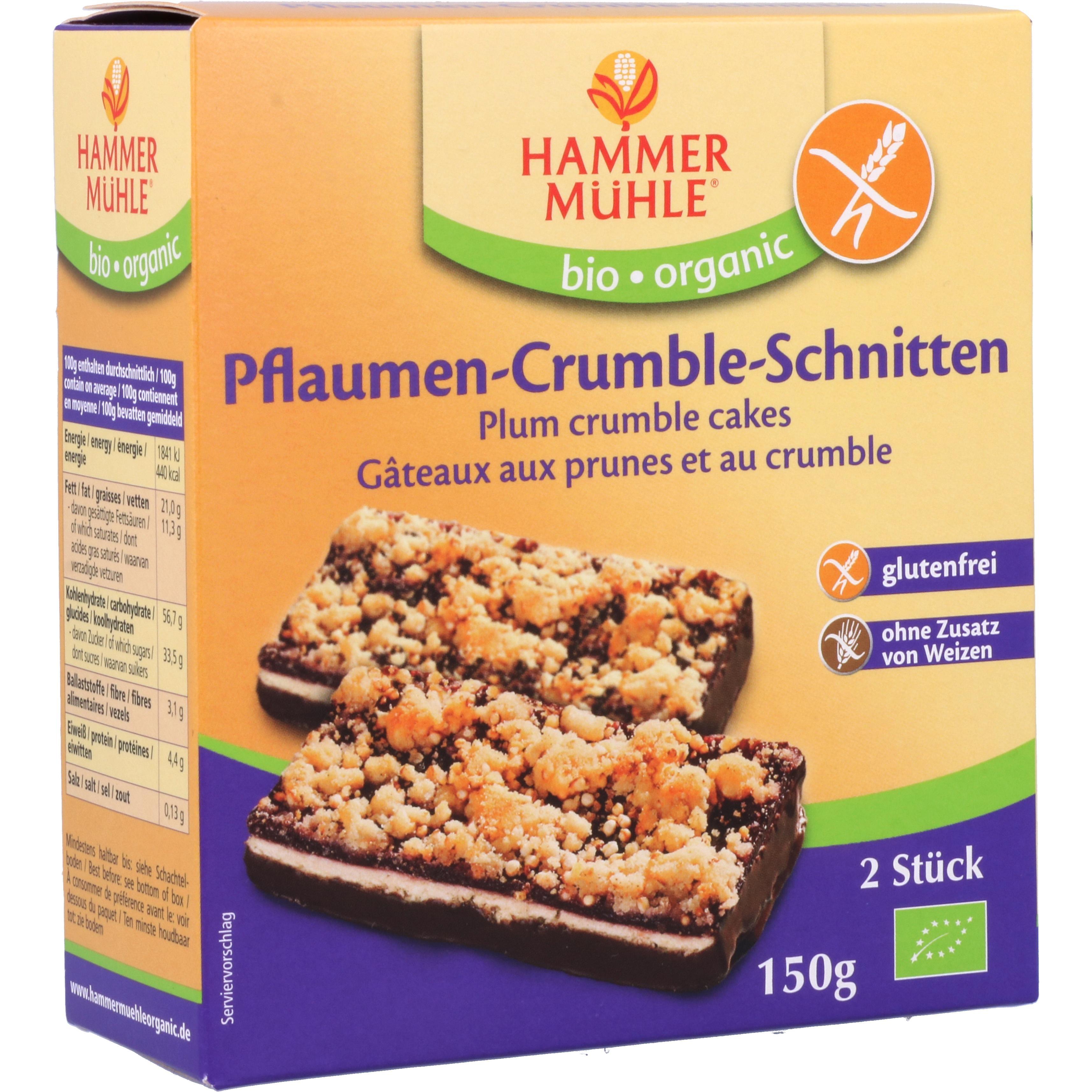 Hammermühle Organic Pflaumen-Crumble-Schnitten 150g