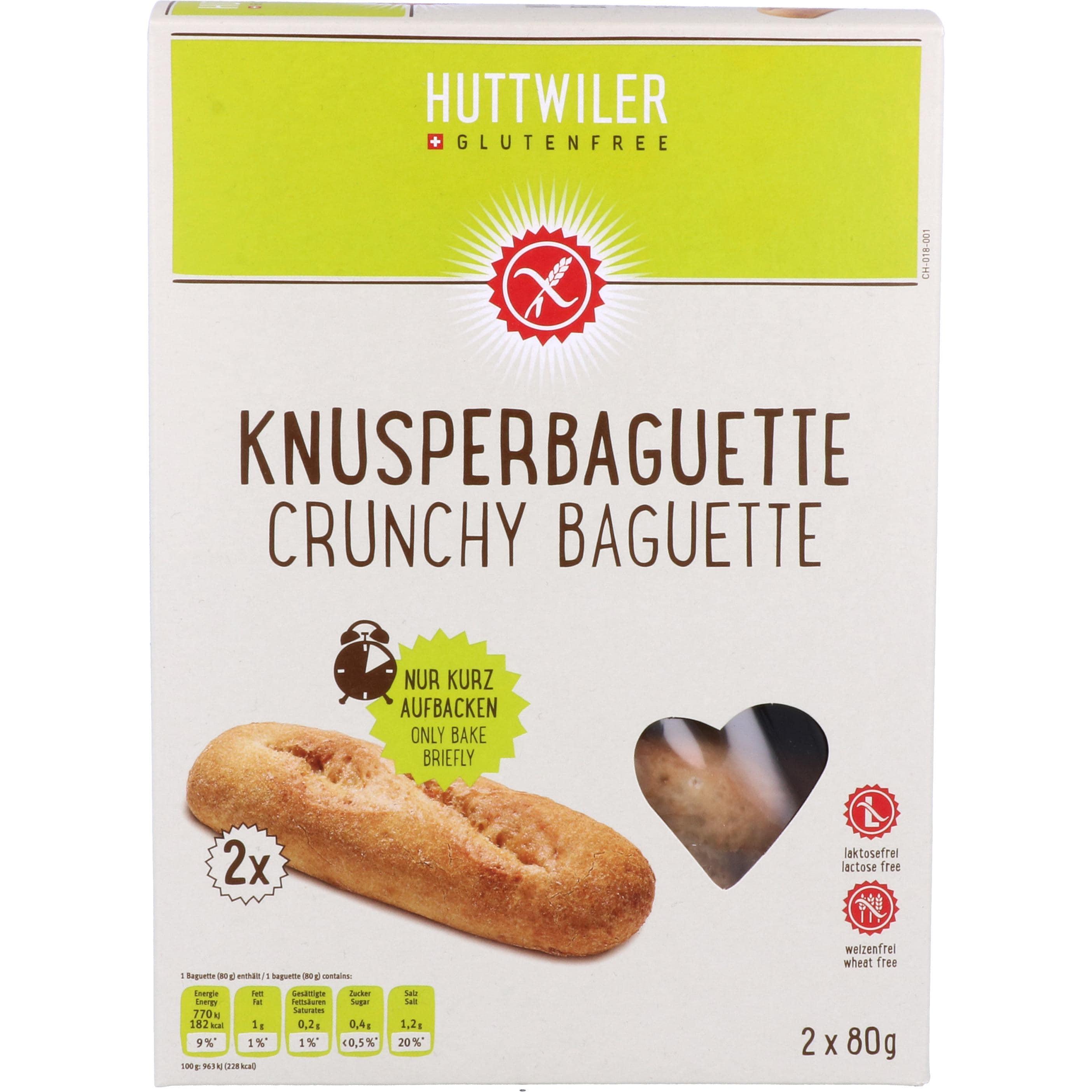 Huttwiler Knusperbaguette 160g