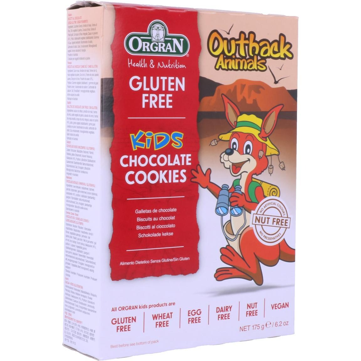 Orgran Outback Animals Choco Cookies 175g