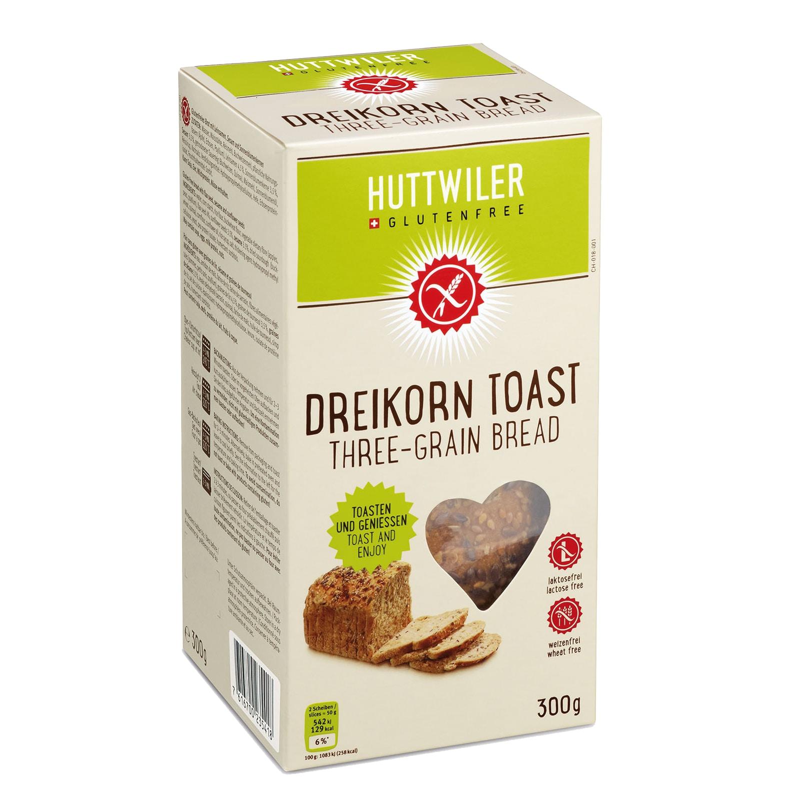 Huttwiler Dreikorn Toast 600g