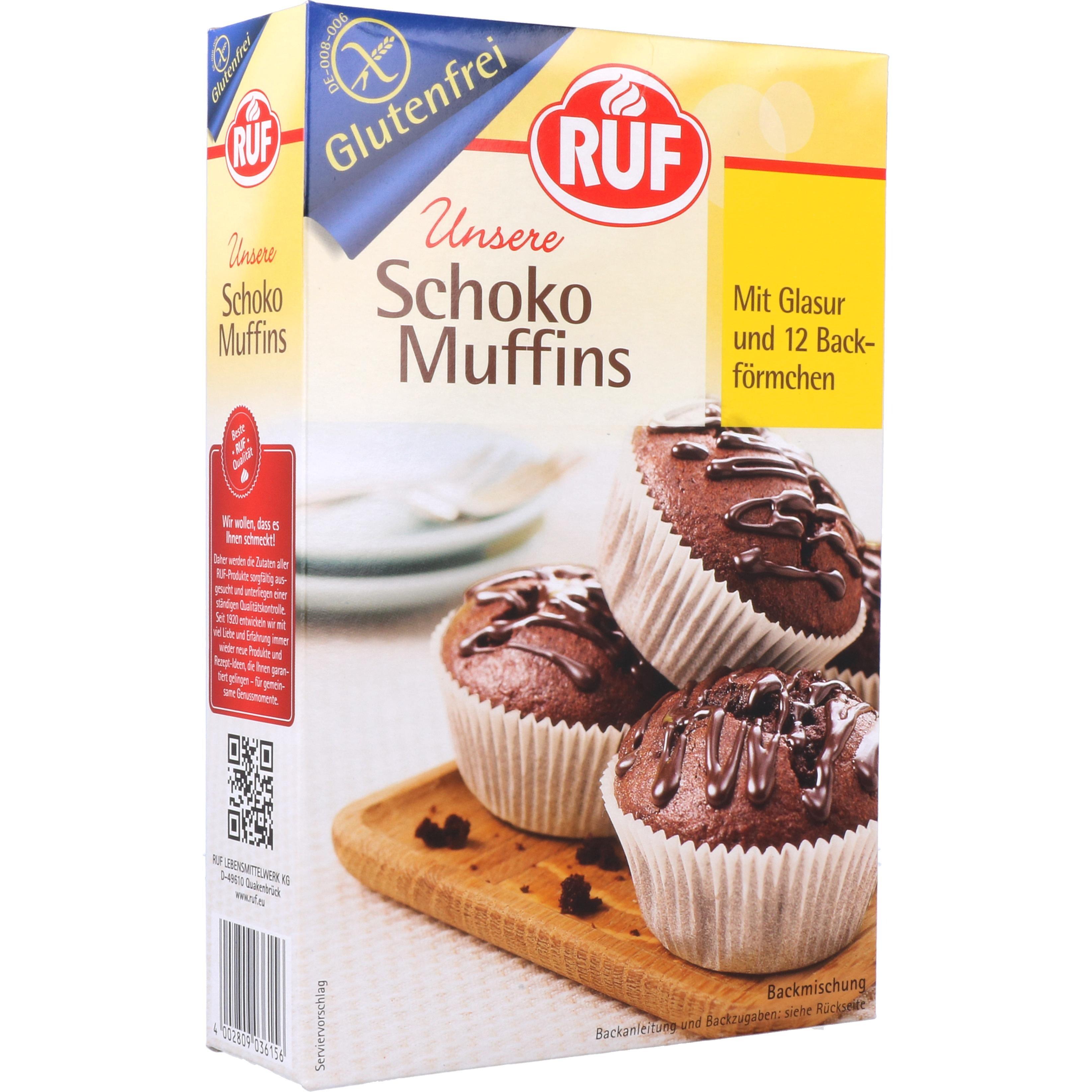 Ruf Backmischung Schoko Muffins mit Glasur 350g