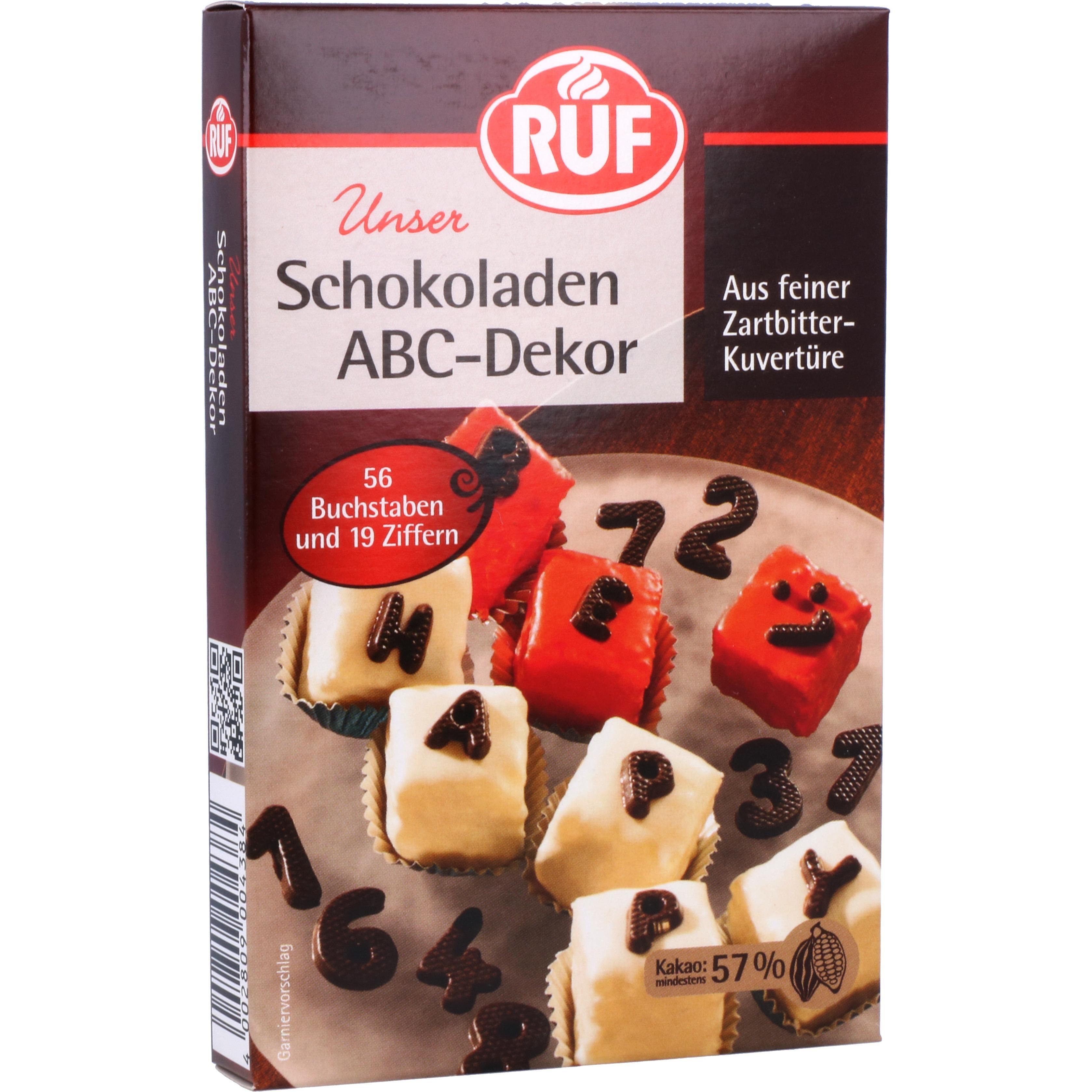 Ruf Schokoladen ABC-Dekor 48g