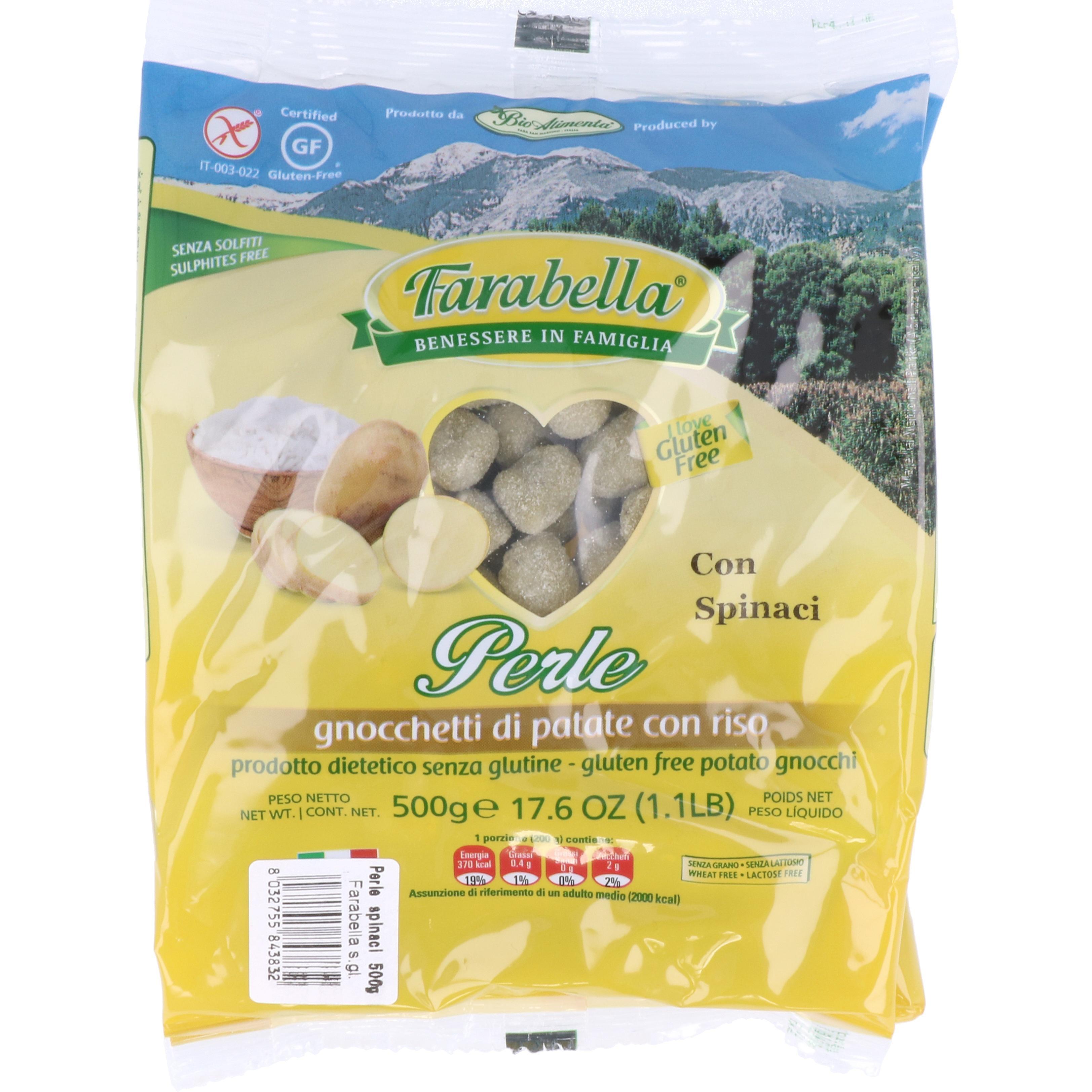 Farabella Perle Spinat kleine Gnocchikugeln 500g
