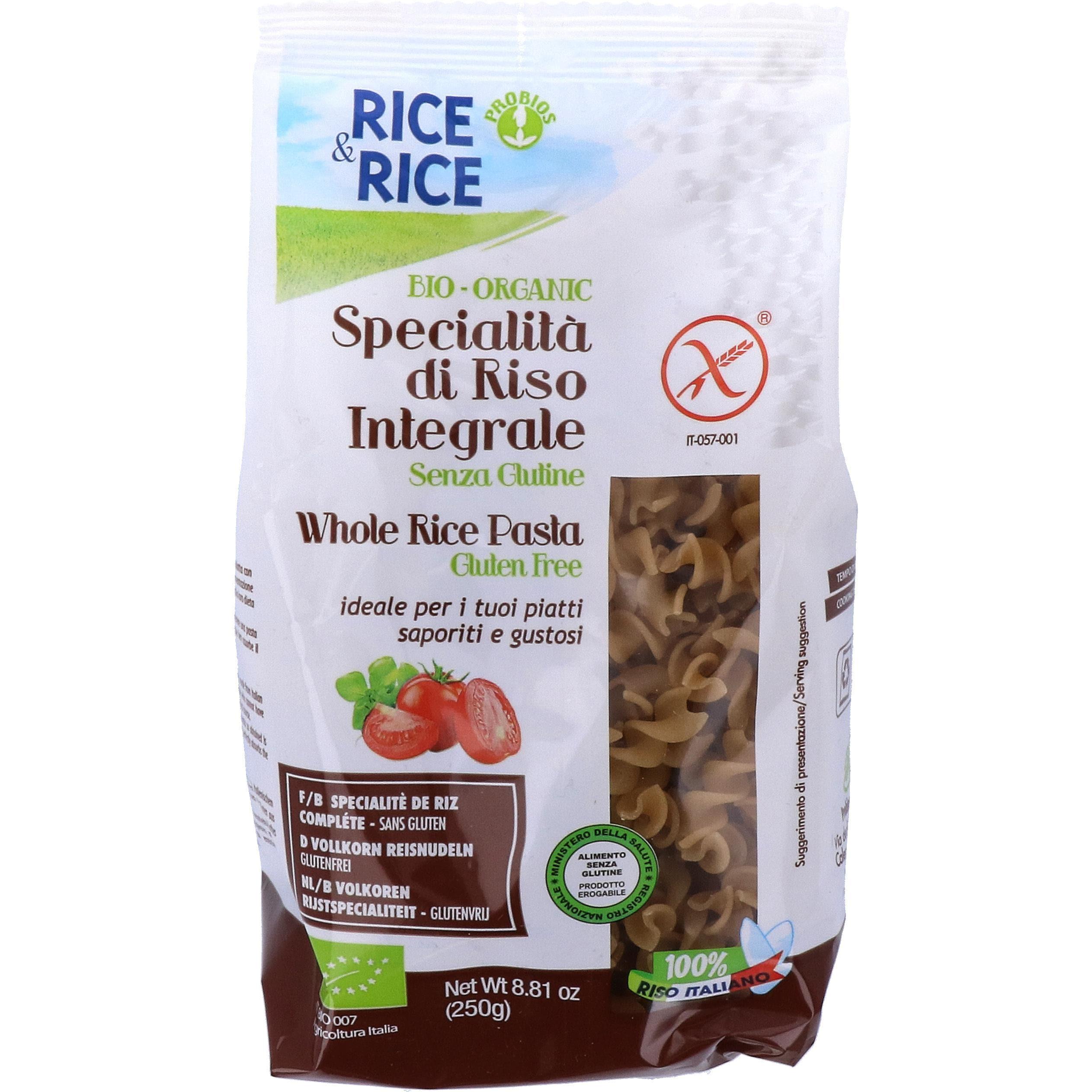 Probios Bio Rice & Rice Vollkorn Fusilli 250g