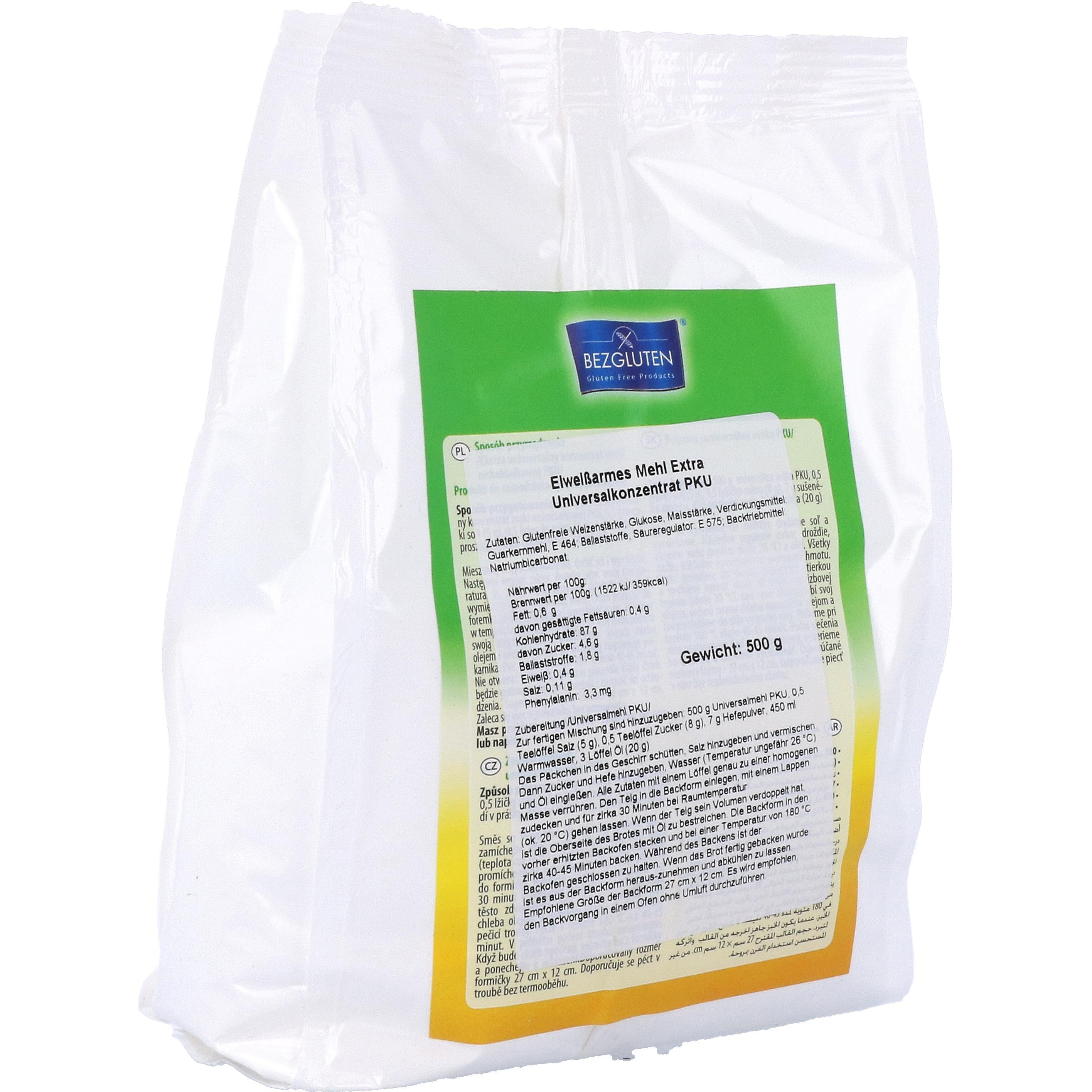 Bezgluten Extra Universelles Mehl eiweißarm PKU 500g