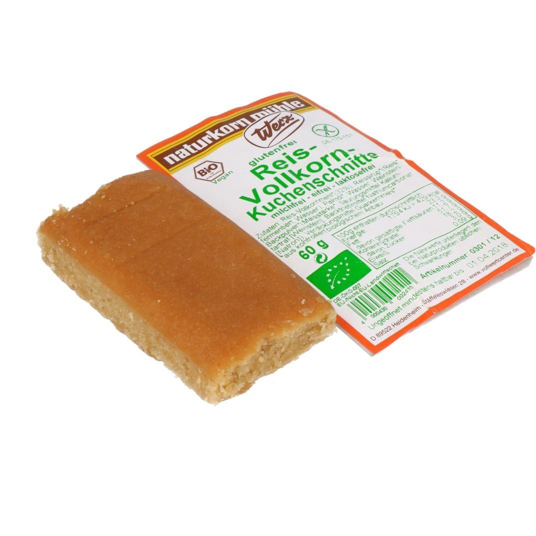 Werz Bio Reis Vollkorn-Kuchenschnitte 60g