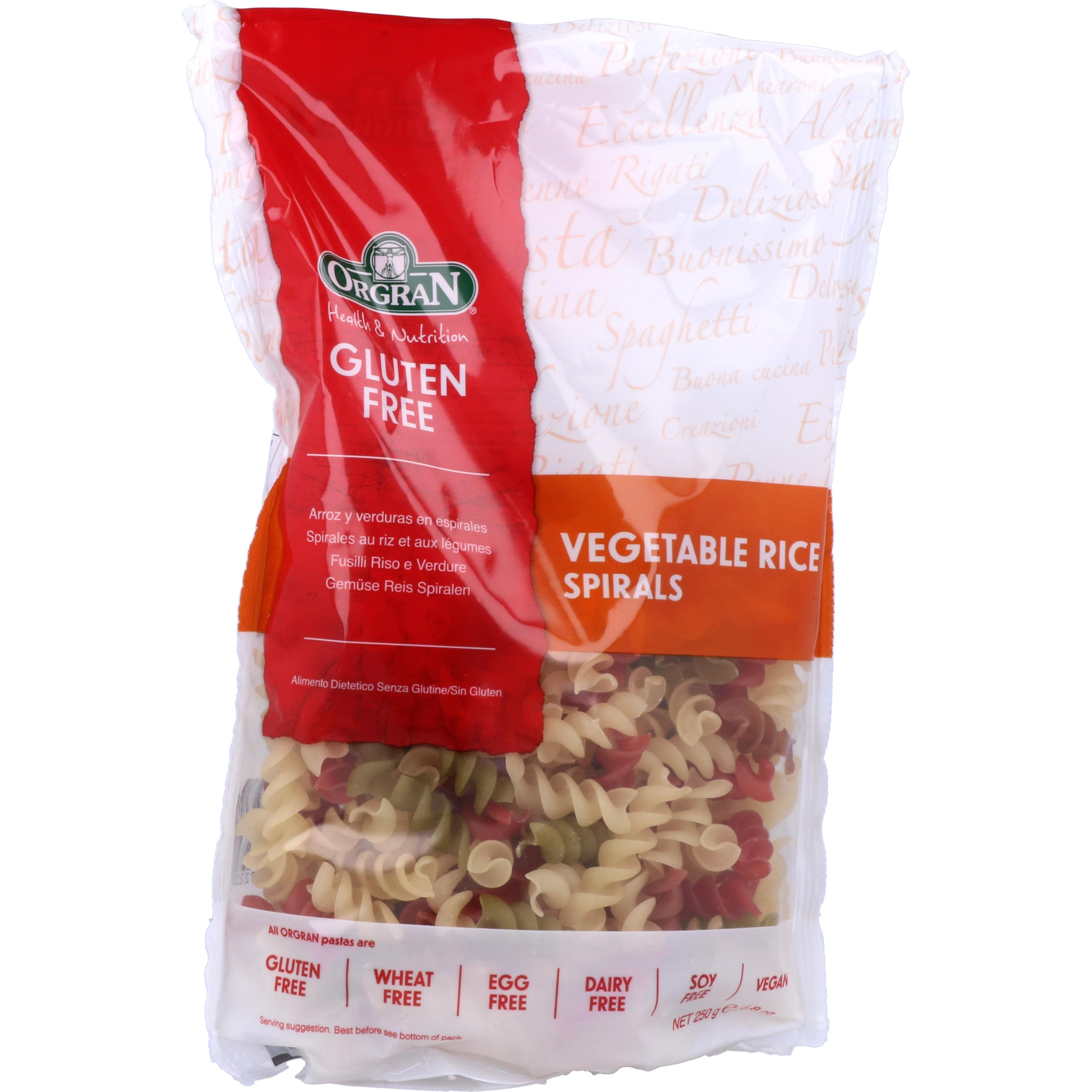 Orgran Vegetable Rice Spirals 250g