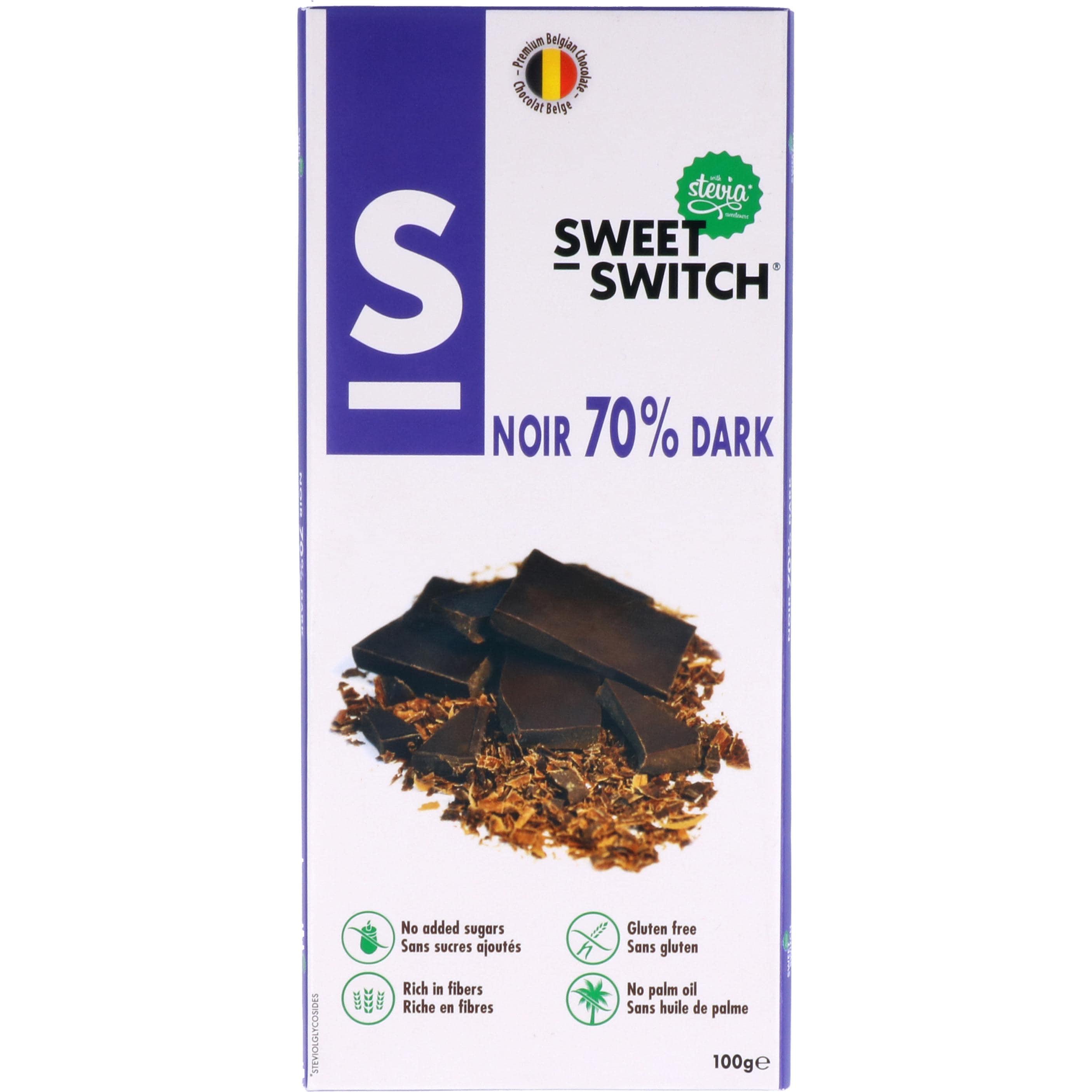 Sweet Switch Edelbitterschokolade 70% 100g