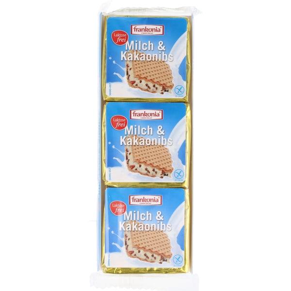 Frankonia Milch & Kakaonibs Waffeln 63g