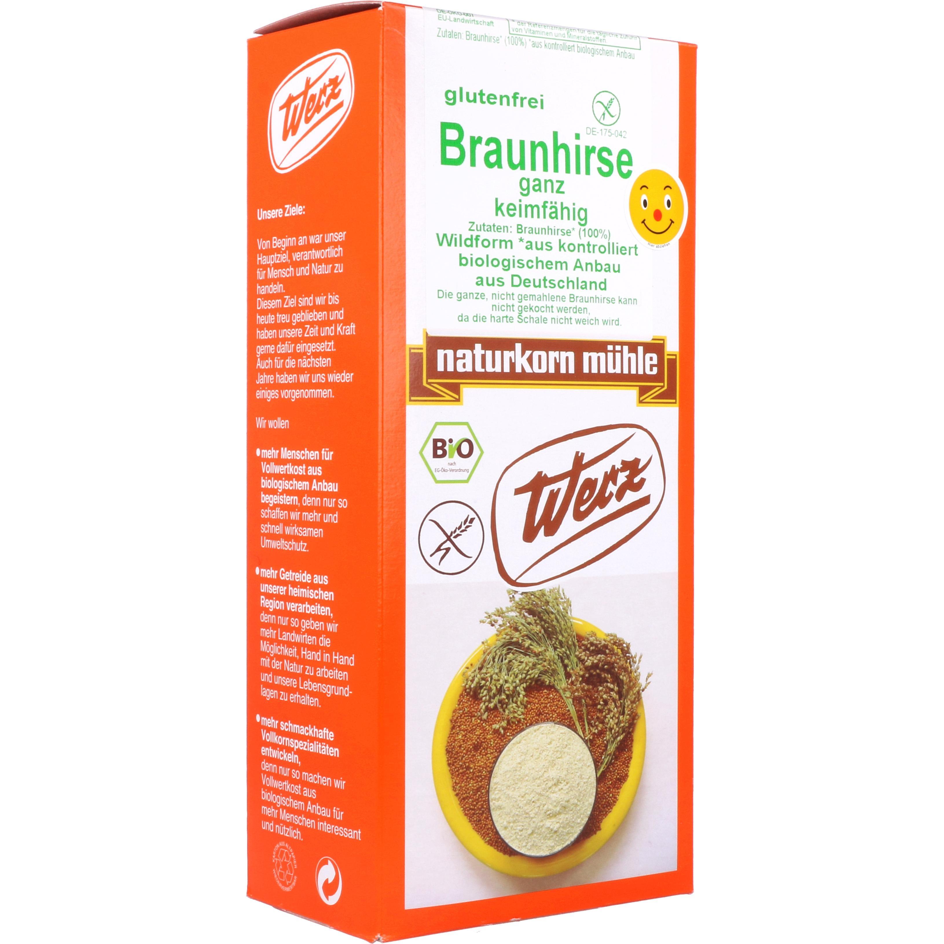 Werz Bio Braunhirse ganz keimfähig 1kg