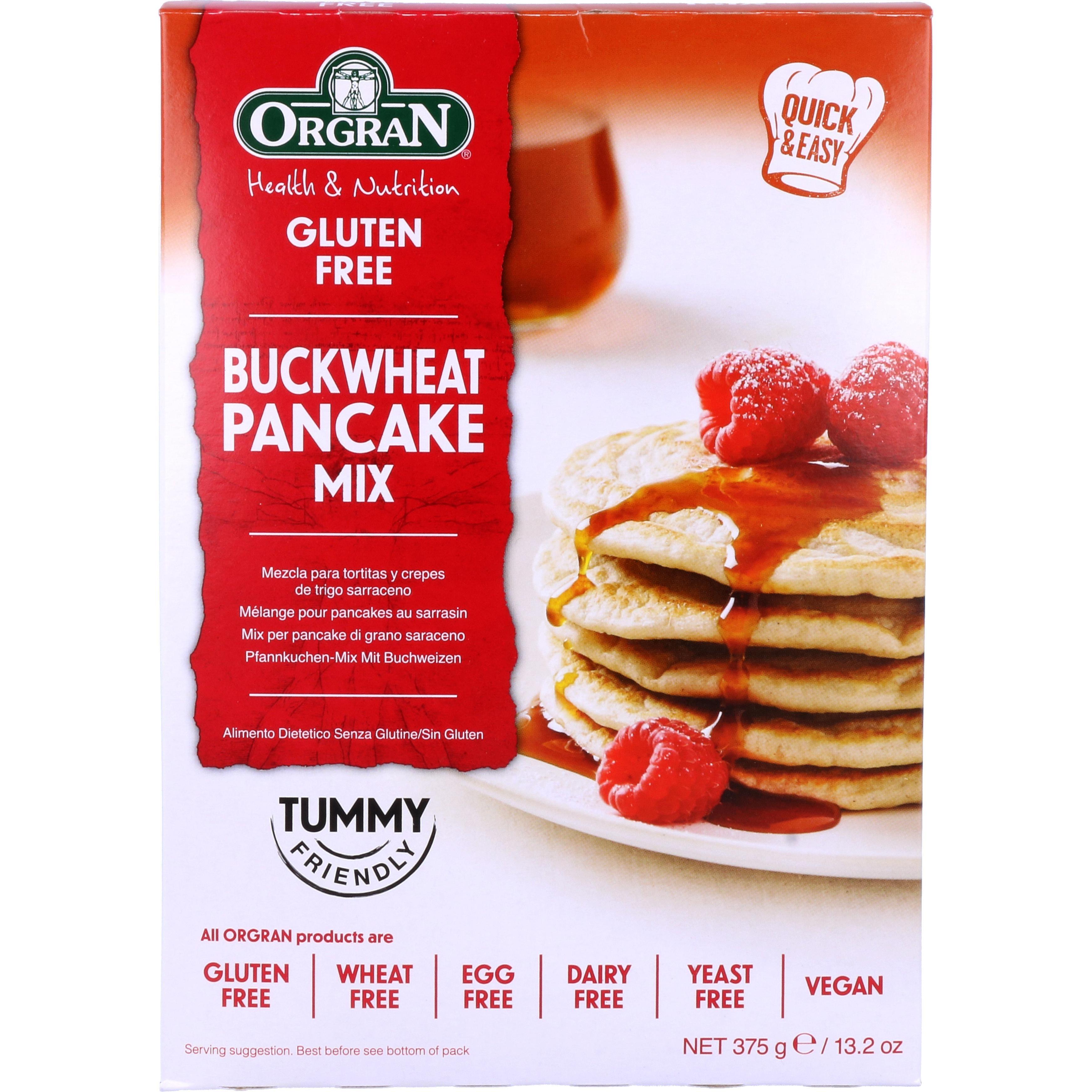 Orgran Buckwheat Pancake Mix Buchweizen-Pfannkuchenmehl 375g