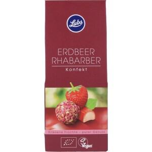 Lubs Bio Erdbeer Rhabarber Konfekt 80g