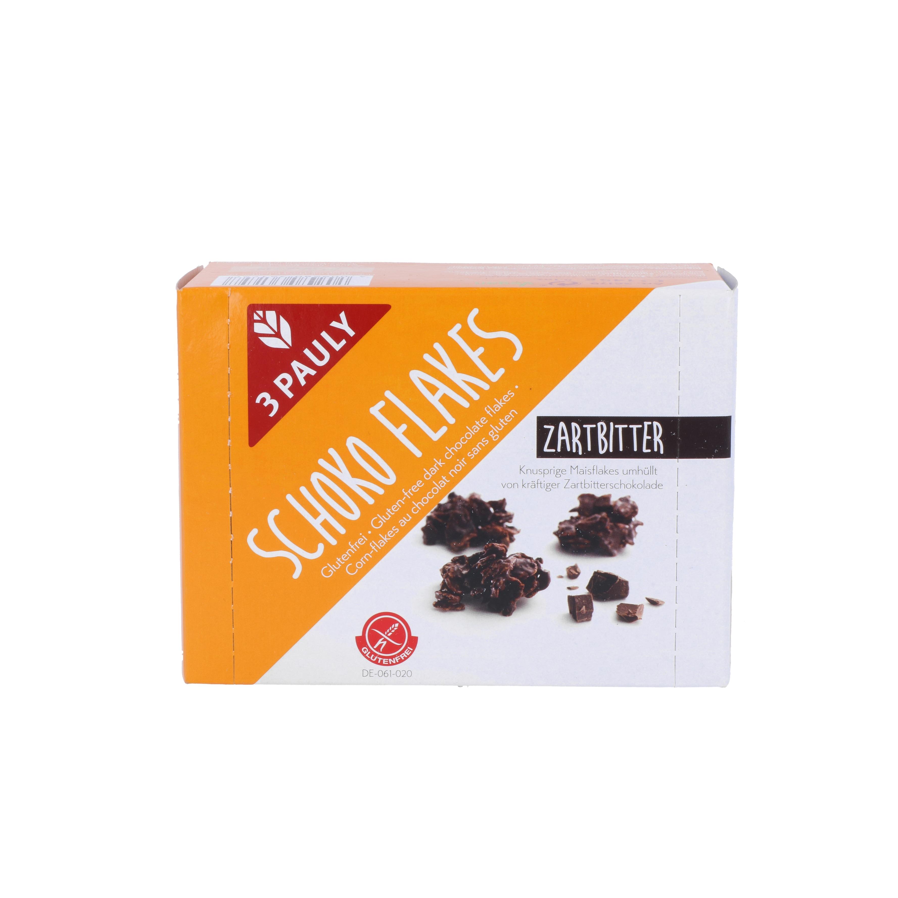3 Pauly Schoko-Flakes Zartbitter 145g