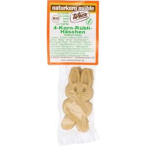 Werz Bio 4-Korn-Rübli-Häschen einzeln, Vollkorn-Keks 18g