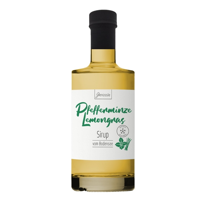Genüssle Pfefferminze-Lemongras Sirup 350 ml
