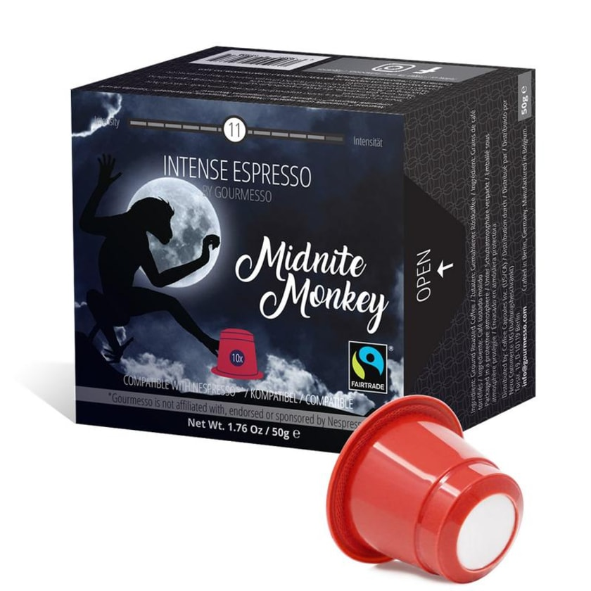 Gourmesso Espresso Midnite Monkey 50g, 10 Kapseln