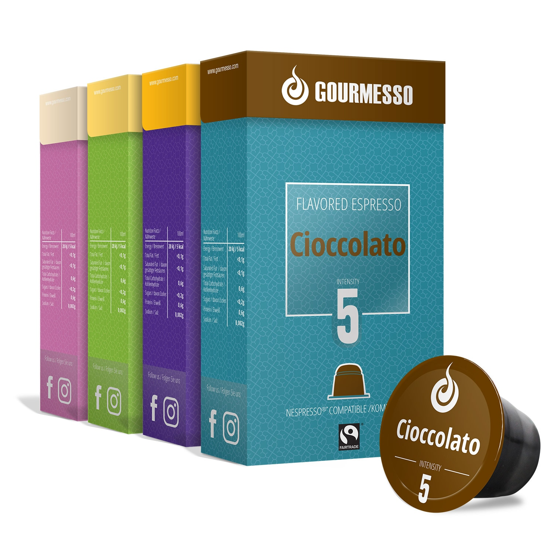Gourmesso Espresso Flavor Box 9 Sorten 864g, 180 Kapseln