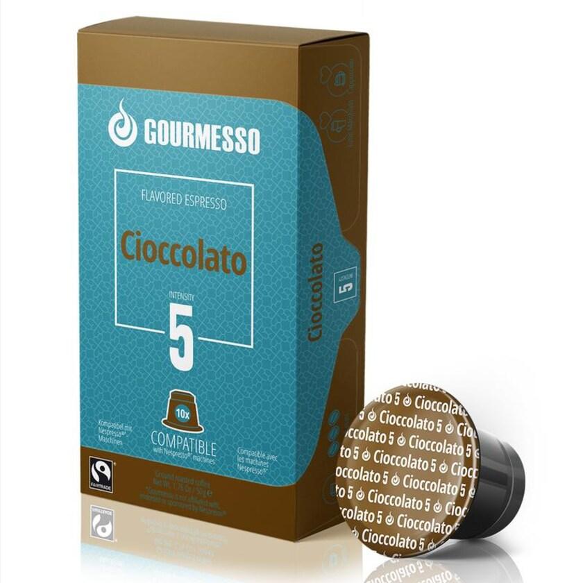 Gourmesso Espresso Schokolade Cioccolato 50g, 10 Kapseln