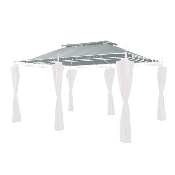 Grasekamp Ersatzdach zu Garten-Pavillon Inca 3x4 Grau