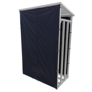 Grasekamp Wetterschutz Set Front und Rückwand zu Kaminholzunterstand 130x70x203cm Polyester Schwarz