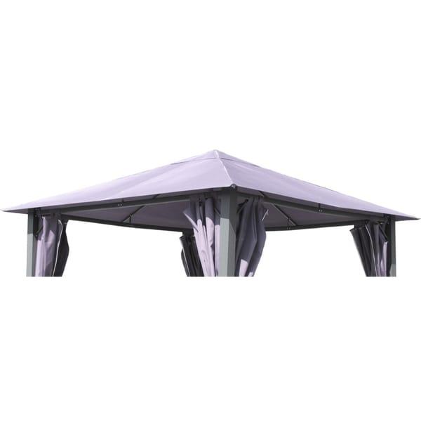 Grasekamp Ersatzdach zu Garten-Pavillon Paris 3x3m Platin-Grau