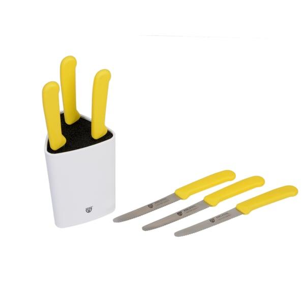 Gräwe Universal-Messerblock mit Brötchenmessern gelb 7-teilig